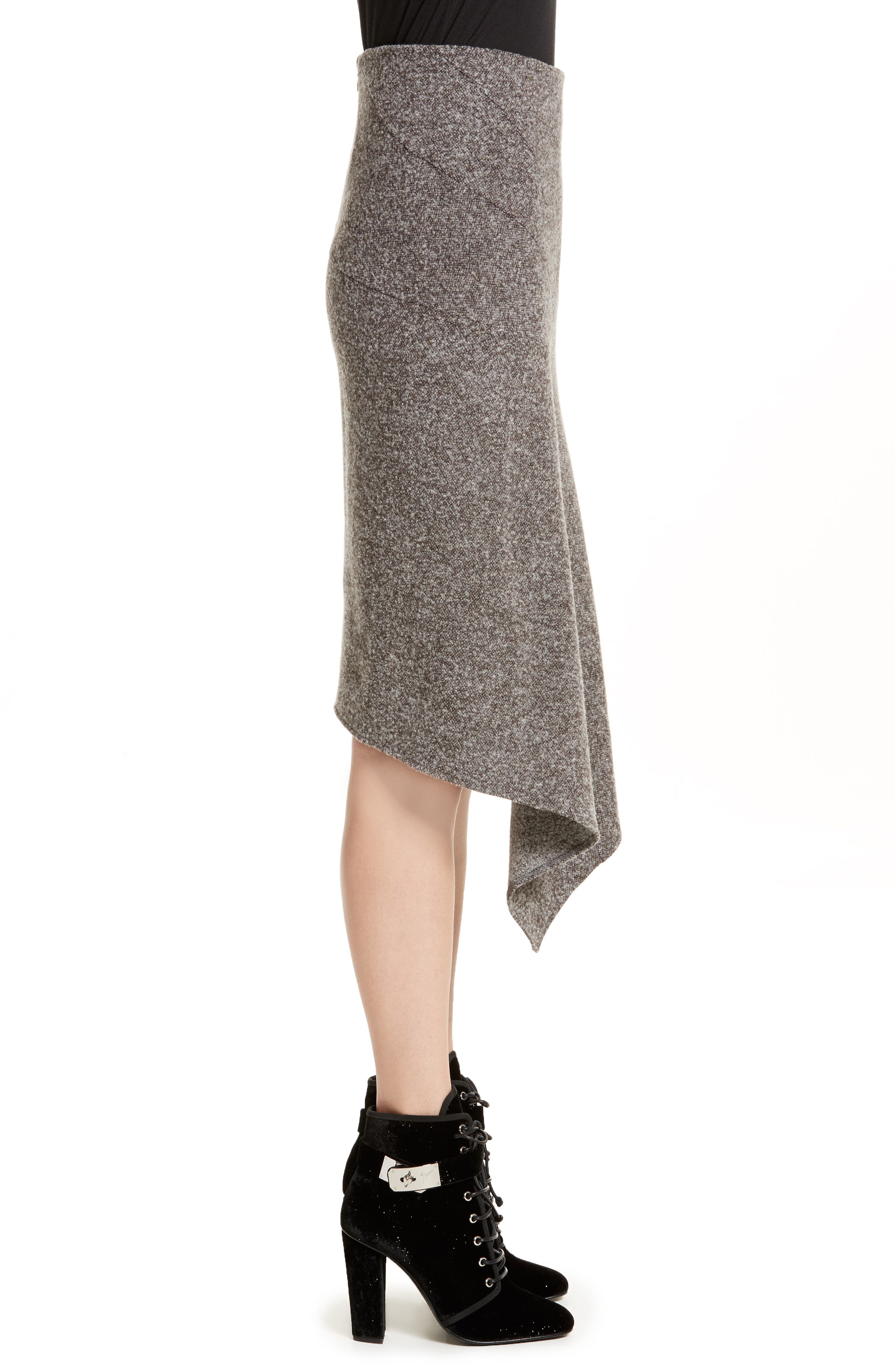Galaxy Tweed Asymmetrical Skirt,                             Alternate thumbnail 3, color,