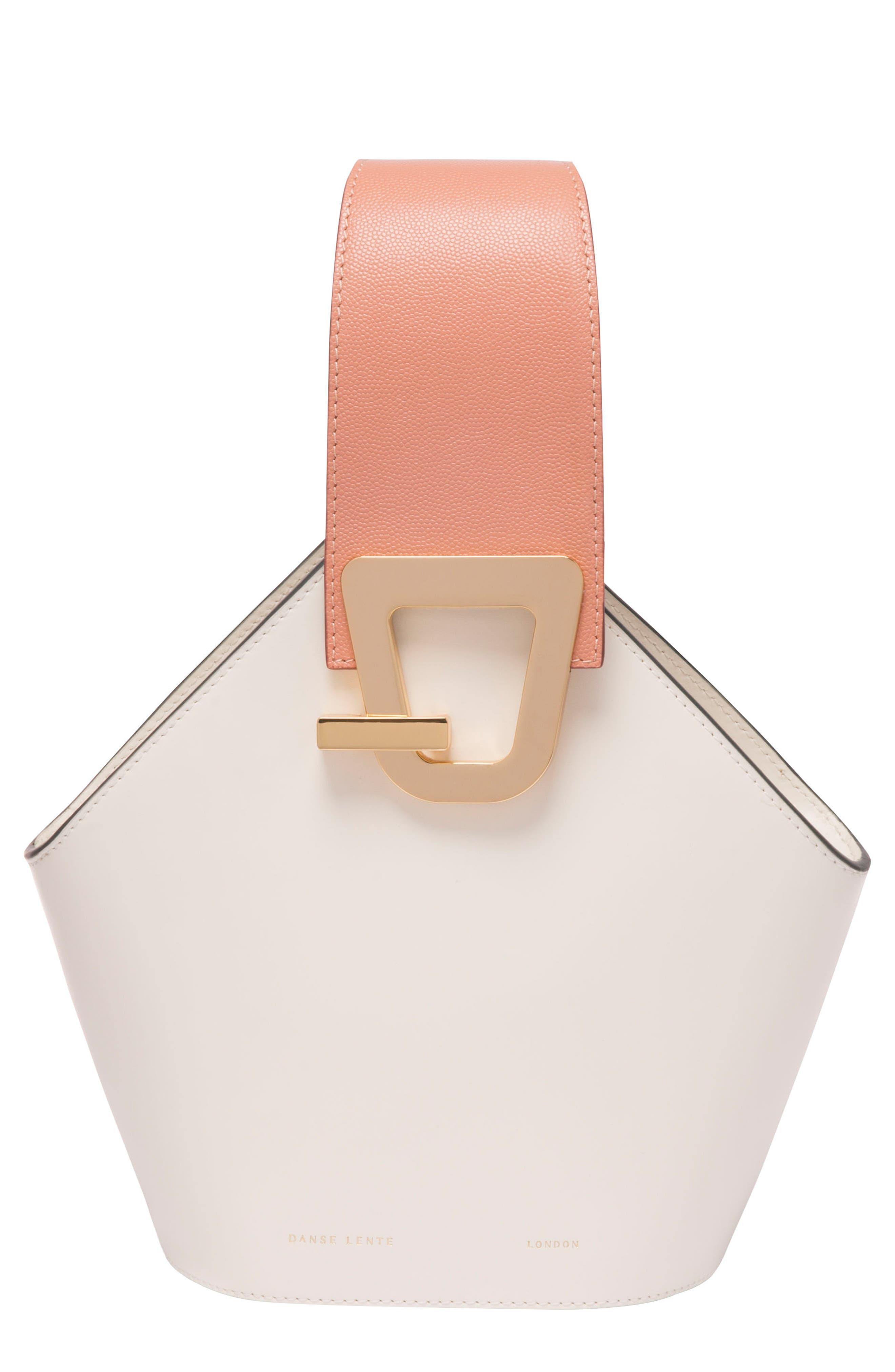 Mini Johnny Leather Bucket Bag,                             Main thumbnail 1, color,                             101