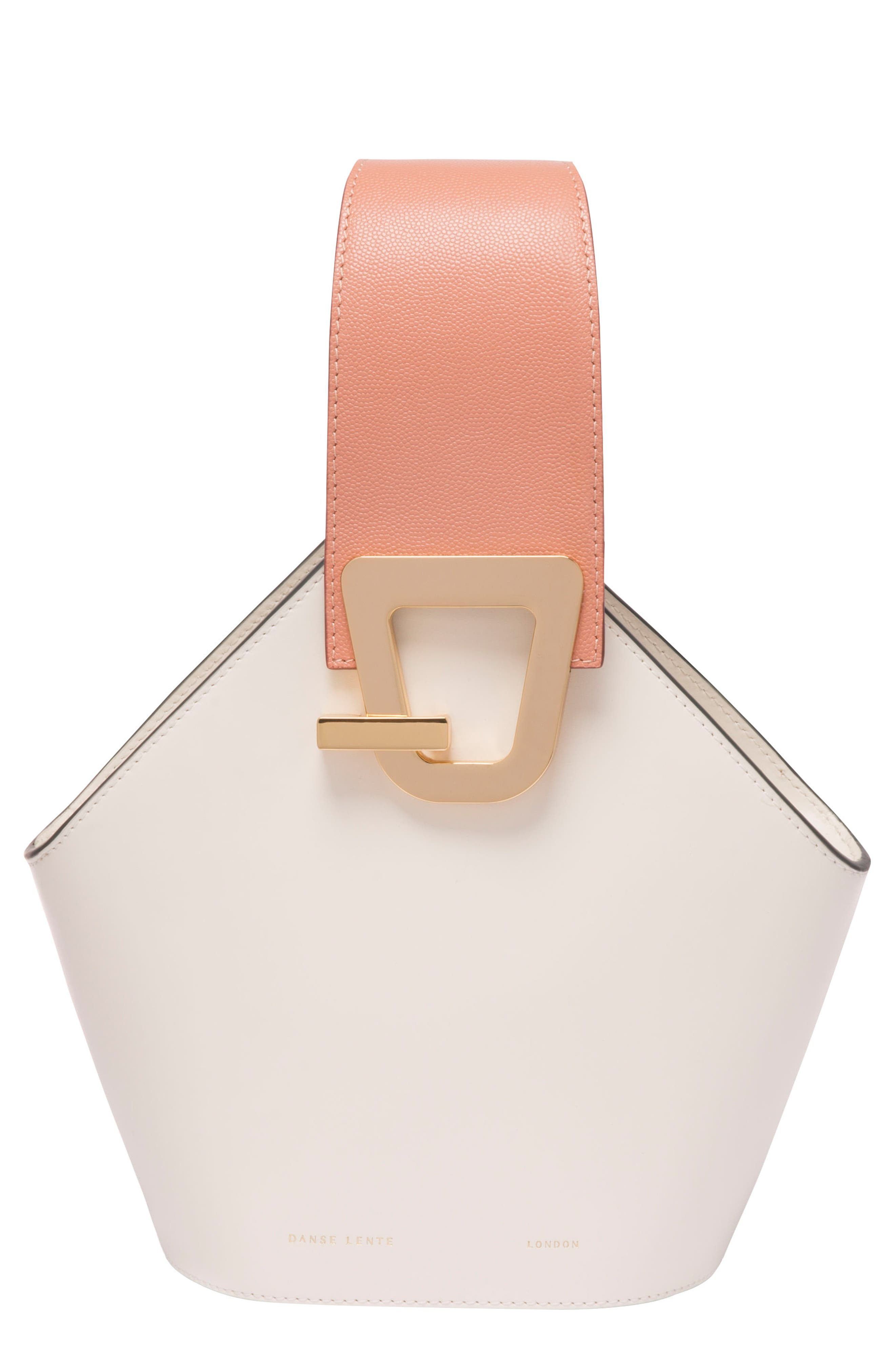 Mini Johnny Leather Bucket Bag,                         Main,                         color, 101