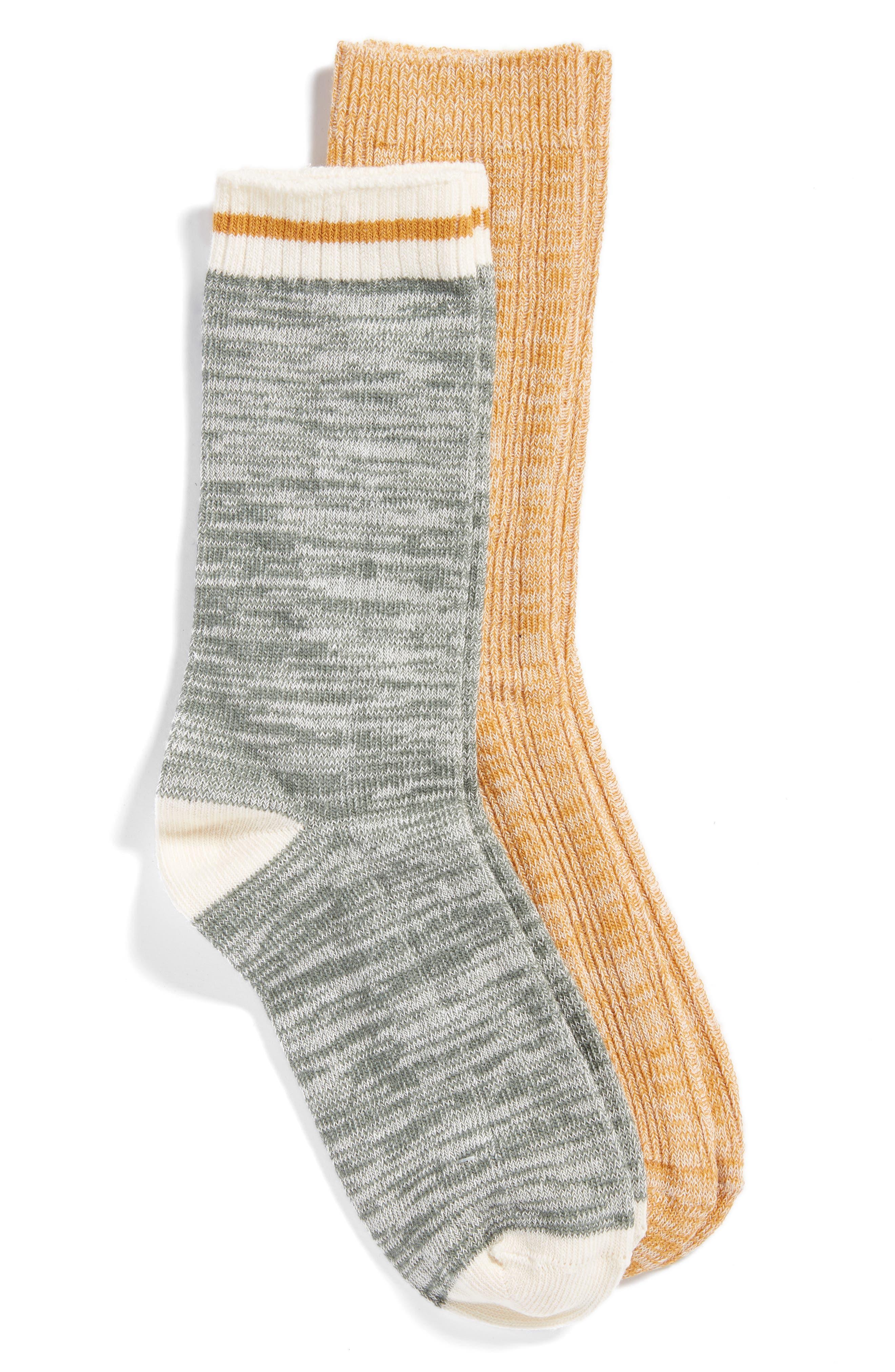 Favorite 2-Pack Boot Socks,                             Main thumbnail 1, color,                             YELLOW GOLD MULTI