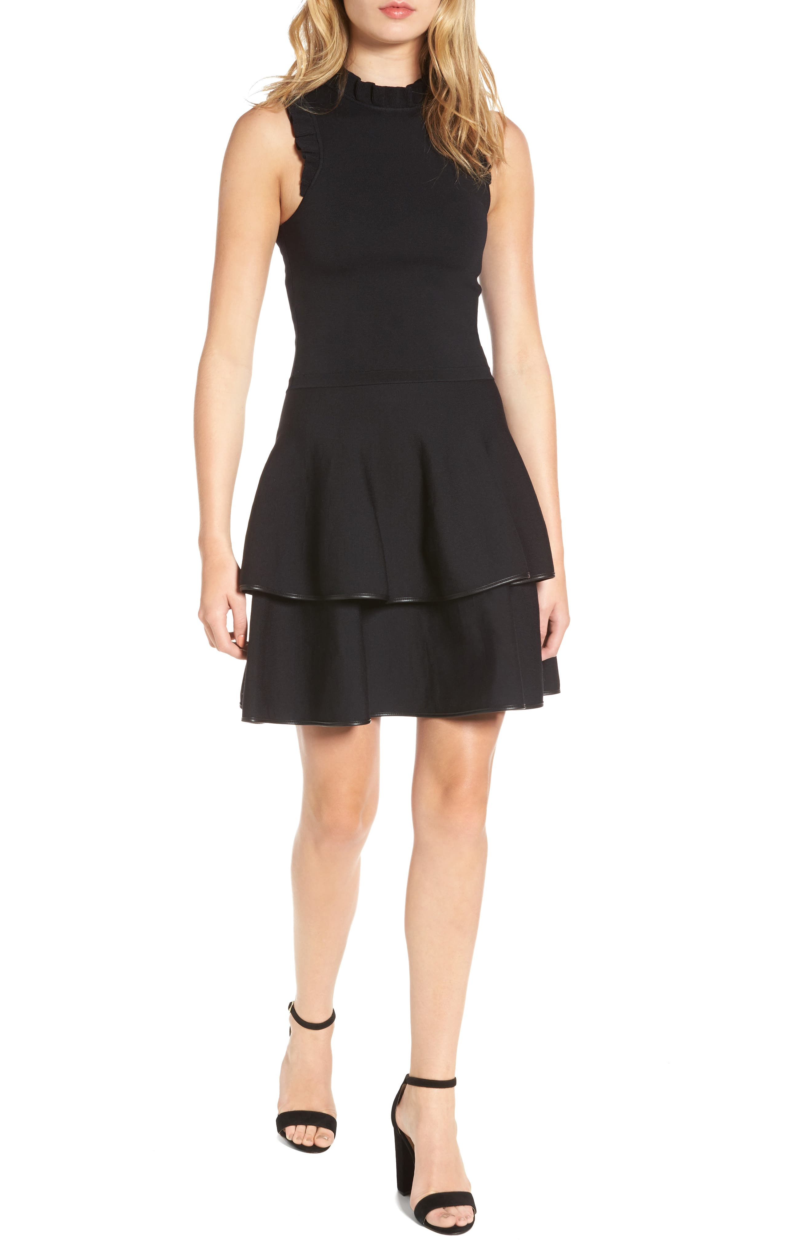 Ryker Fit & Flare Dress,                         Main,                         color, 001