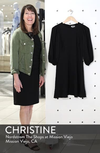 Blouson Sleeve Fit & Flare Dress, sales video thumbnail