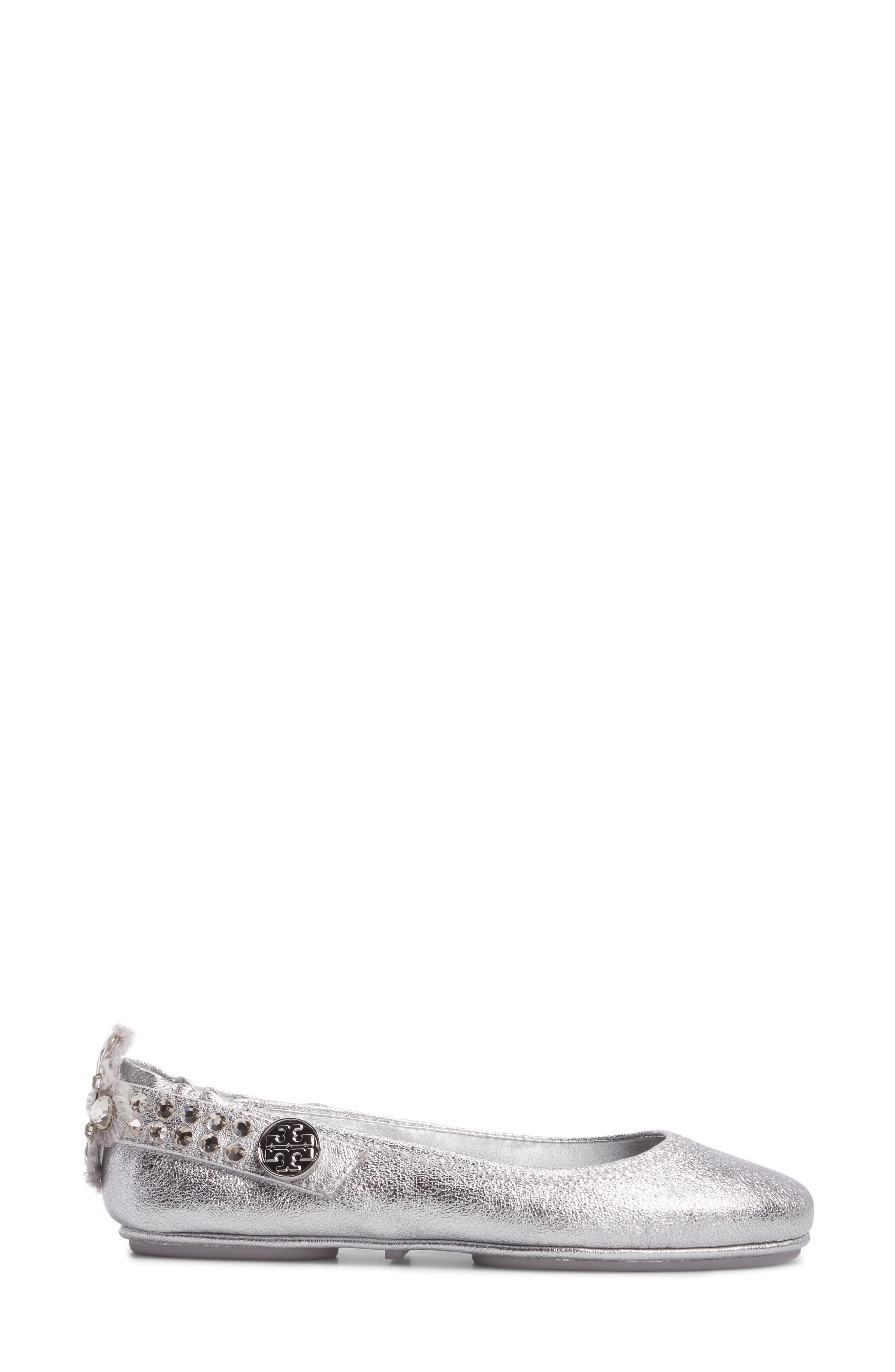 Minnie Embellished Convertible Strap Ballet Flat,                             Alternate thumbnail 5, color,