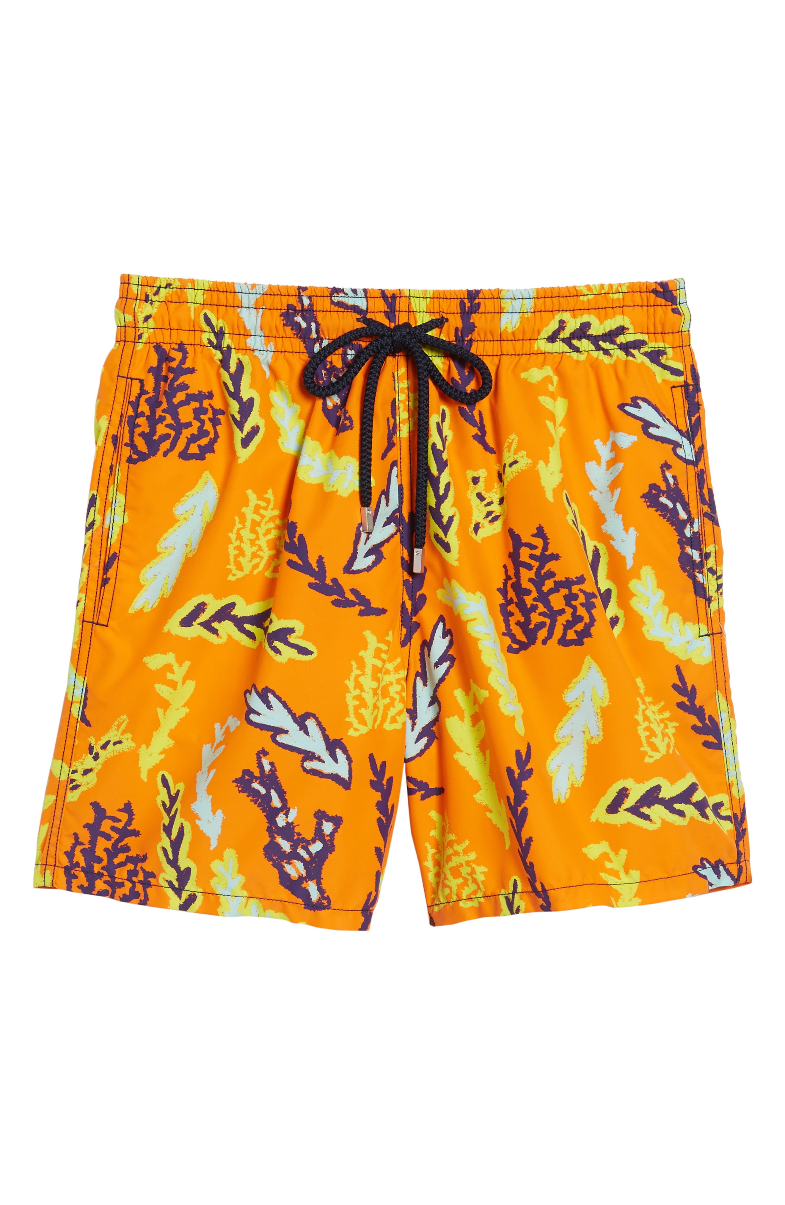 Solar Seaweed Print Swim Trunks,                             Alternate thumbnail 6, color,                             812