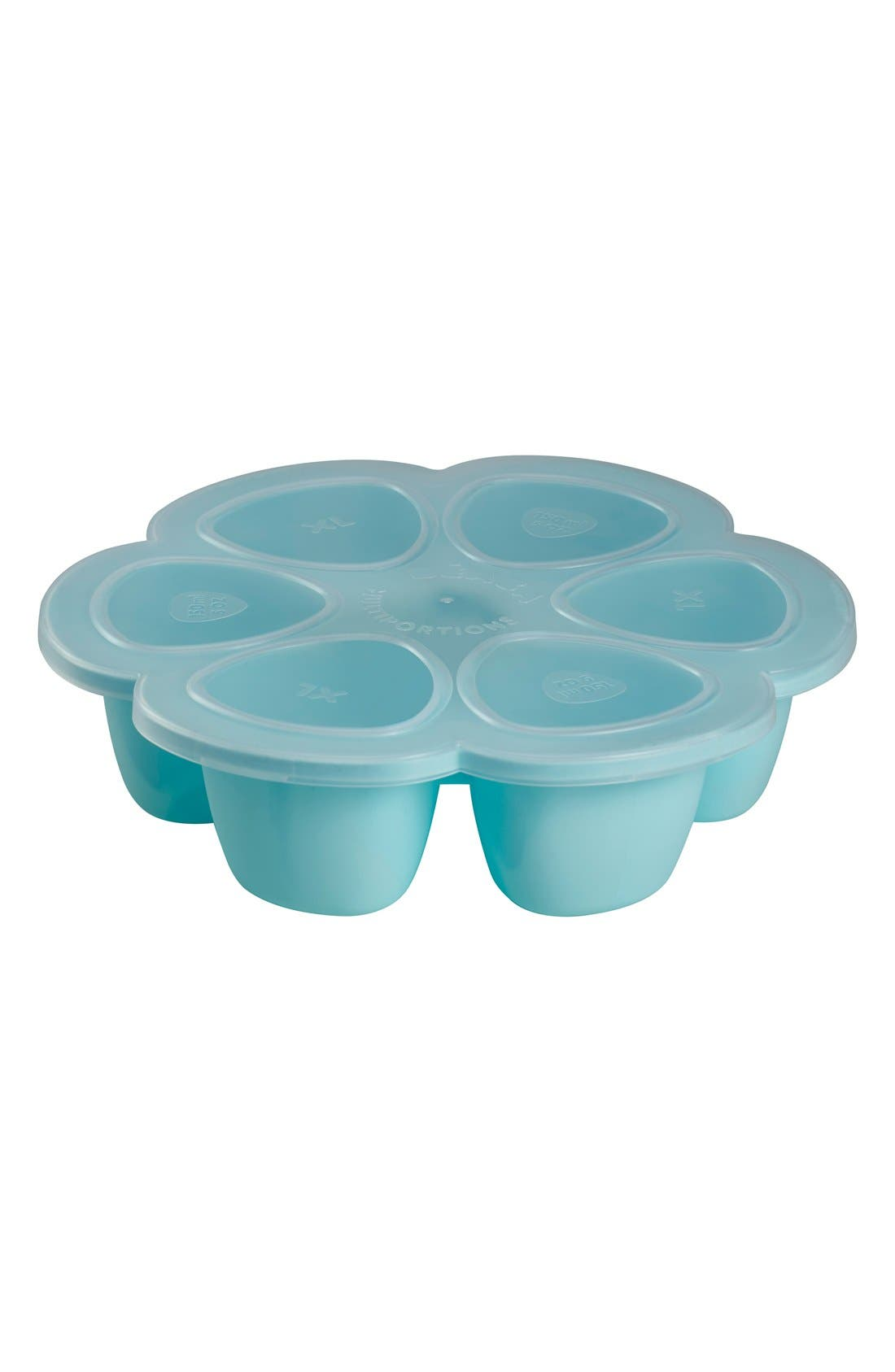 Multiportions<sup>™</sup> Silicone 3 oz. Food Cup Tray,                             Alternate thumbnail 3, color,                             SKY