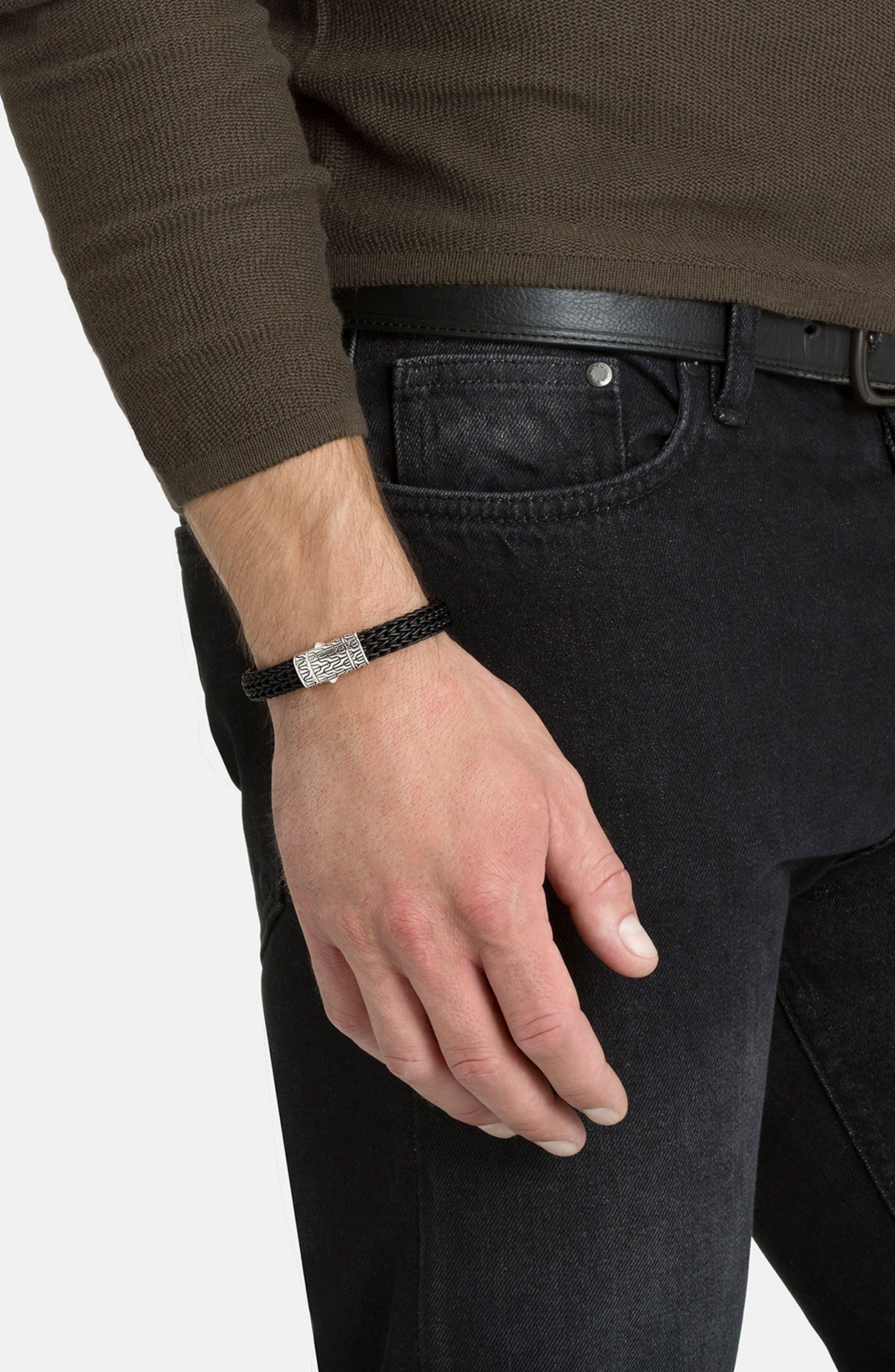 Classic Silver Rubber Chain Bracelet,                             Alternate thumbnail 2, color,                             040