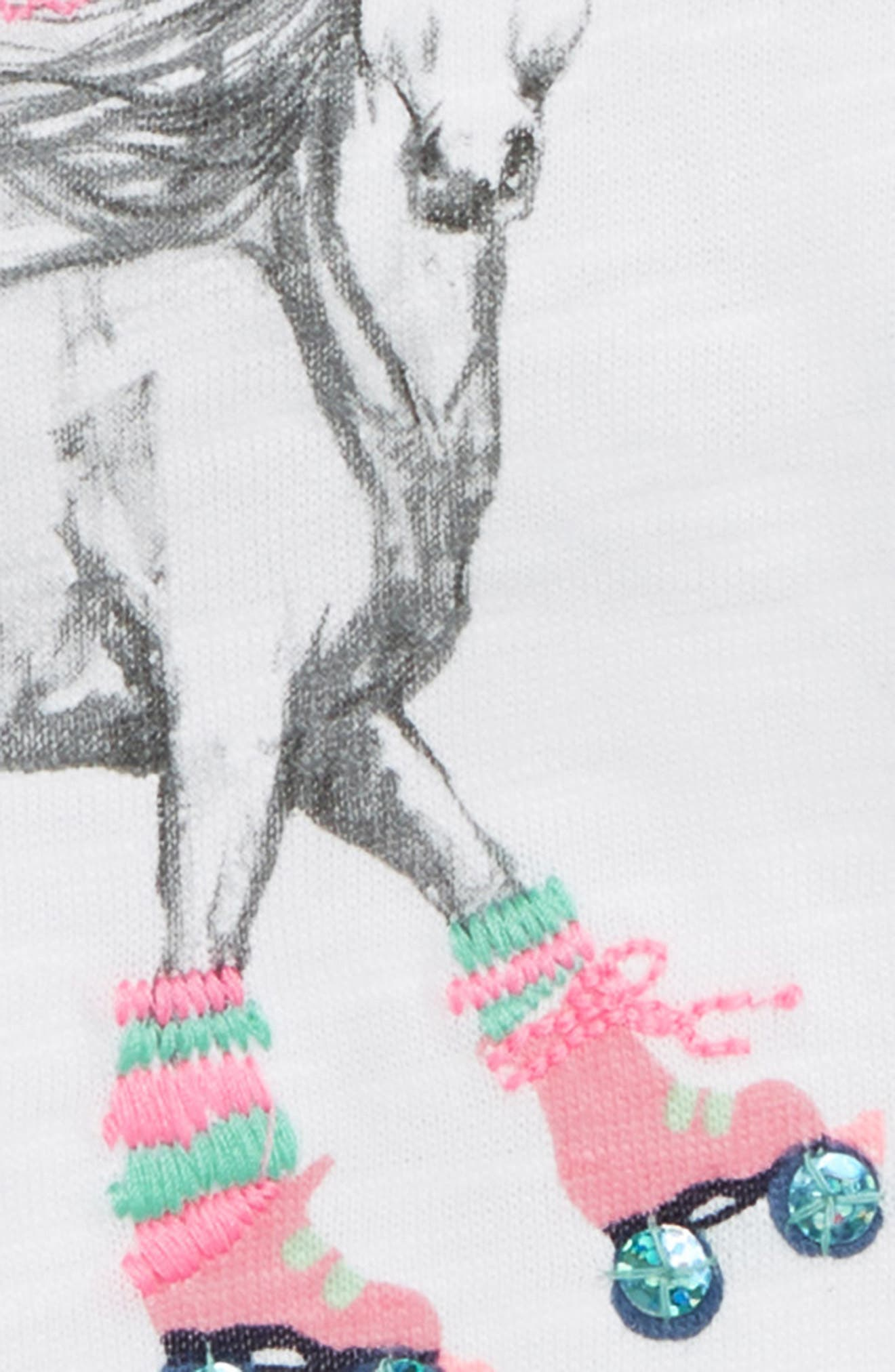 Roller Skating Horse Graphic Tee,                             Alternate thumbnail 2, color,                             100