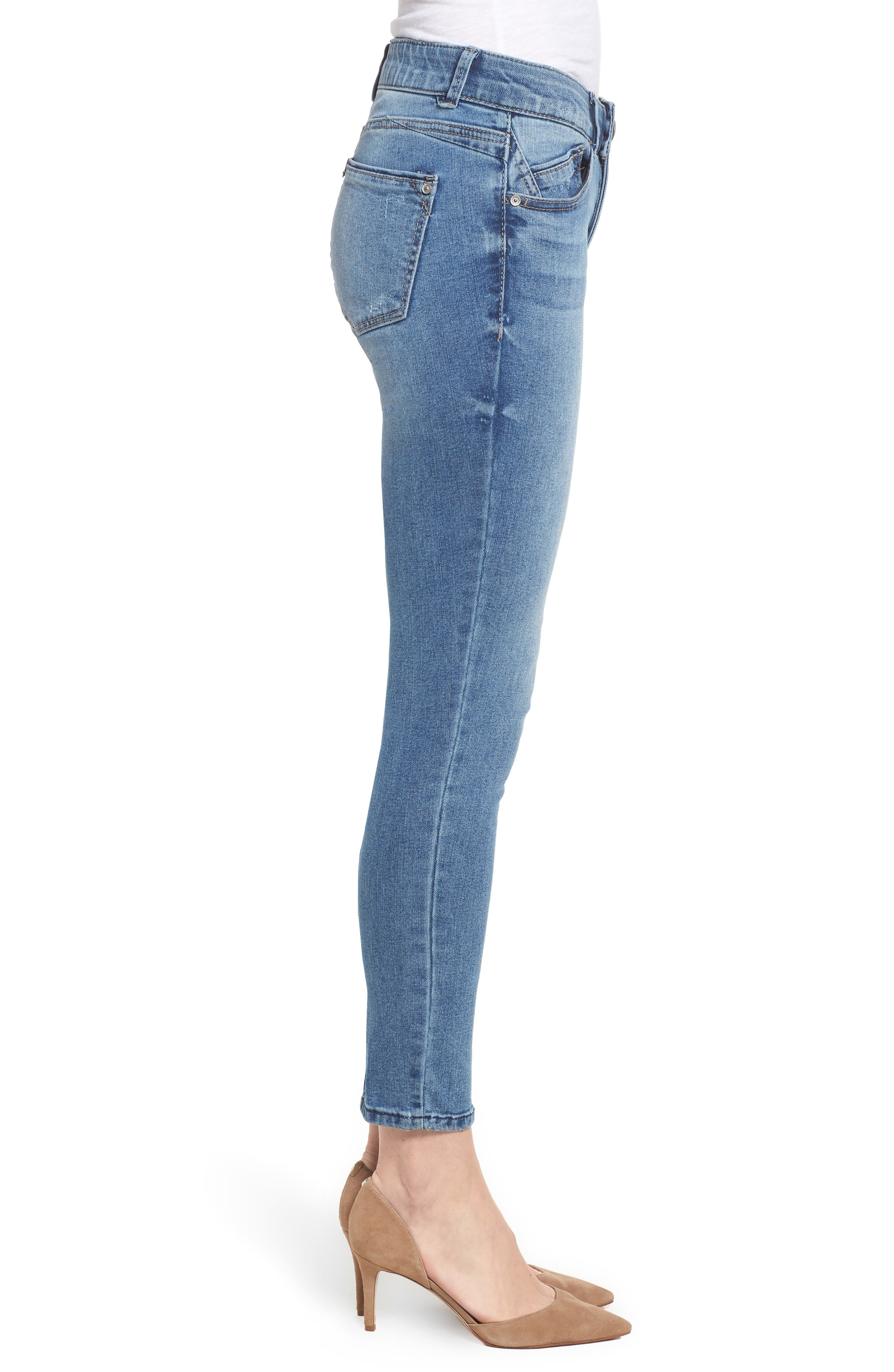 Ab-solution Ankle Skimmer Skinny Jeans Regular & Petite,                             Alternate thumbnail 3, color,                             458