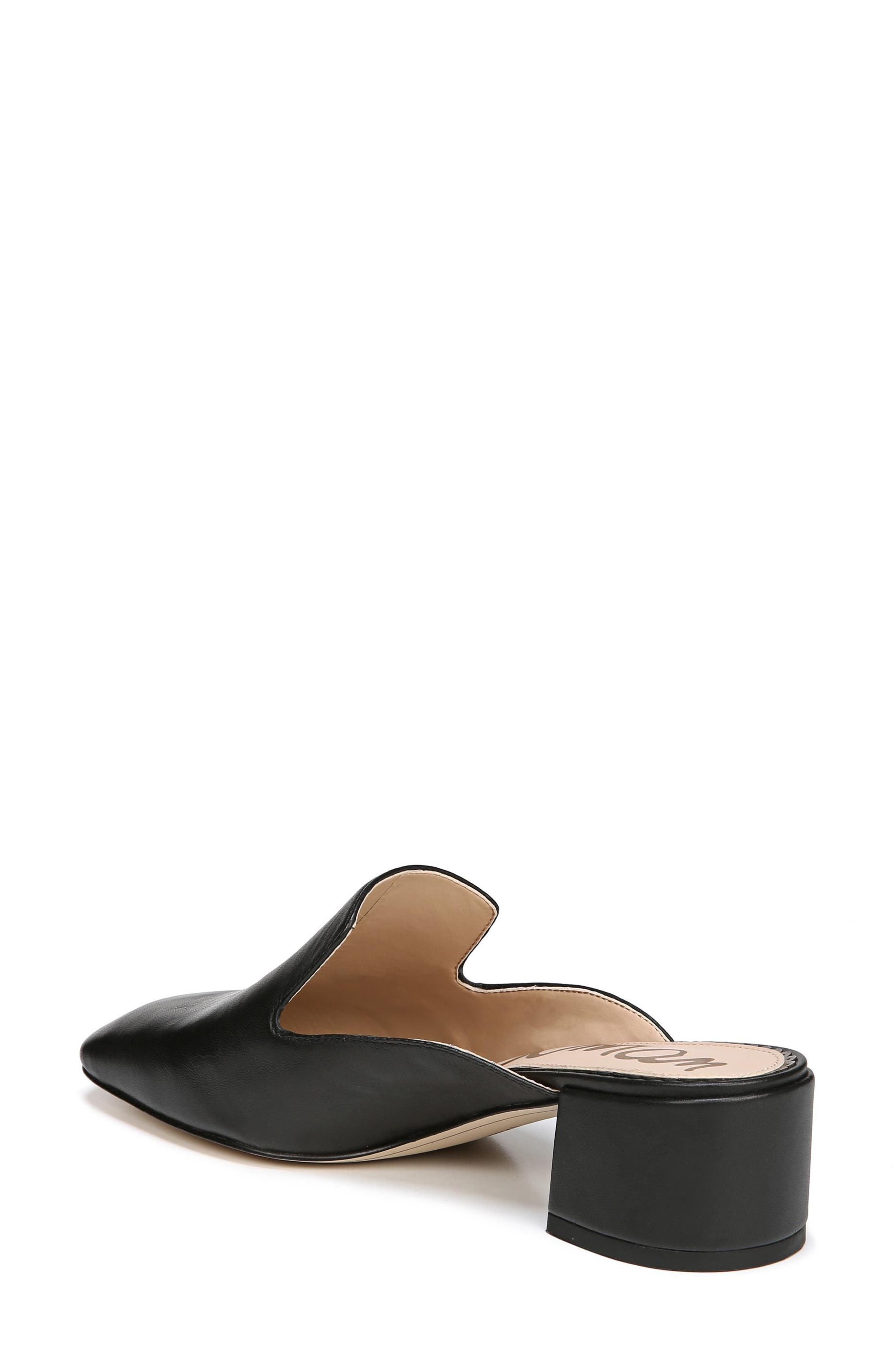 Adair Loafer Mule,                             Alternate thumbnail 2, color,                             BLACK LEATHER
