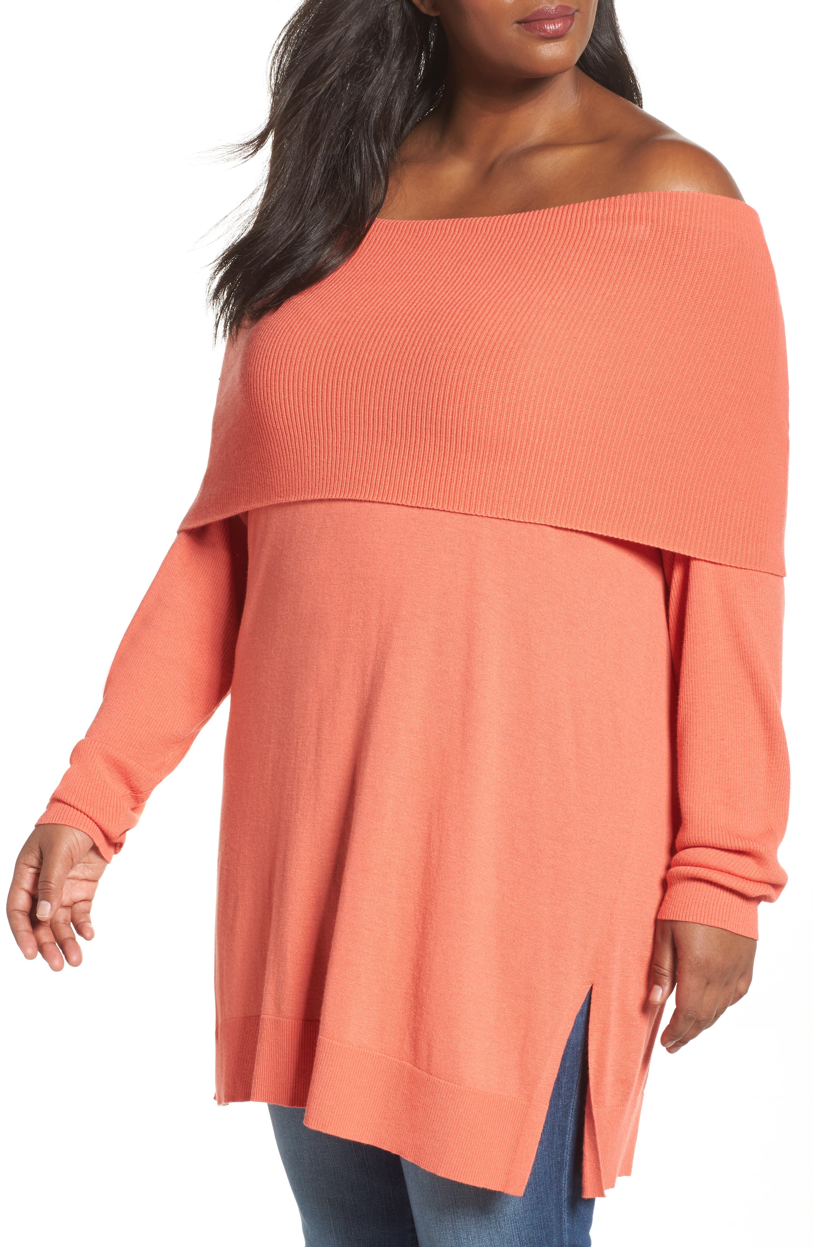 Cowl Neck Tunic Sweater,                             Main thumbnail 10, color,