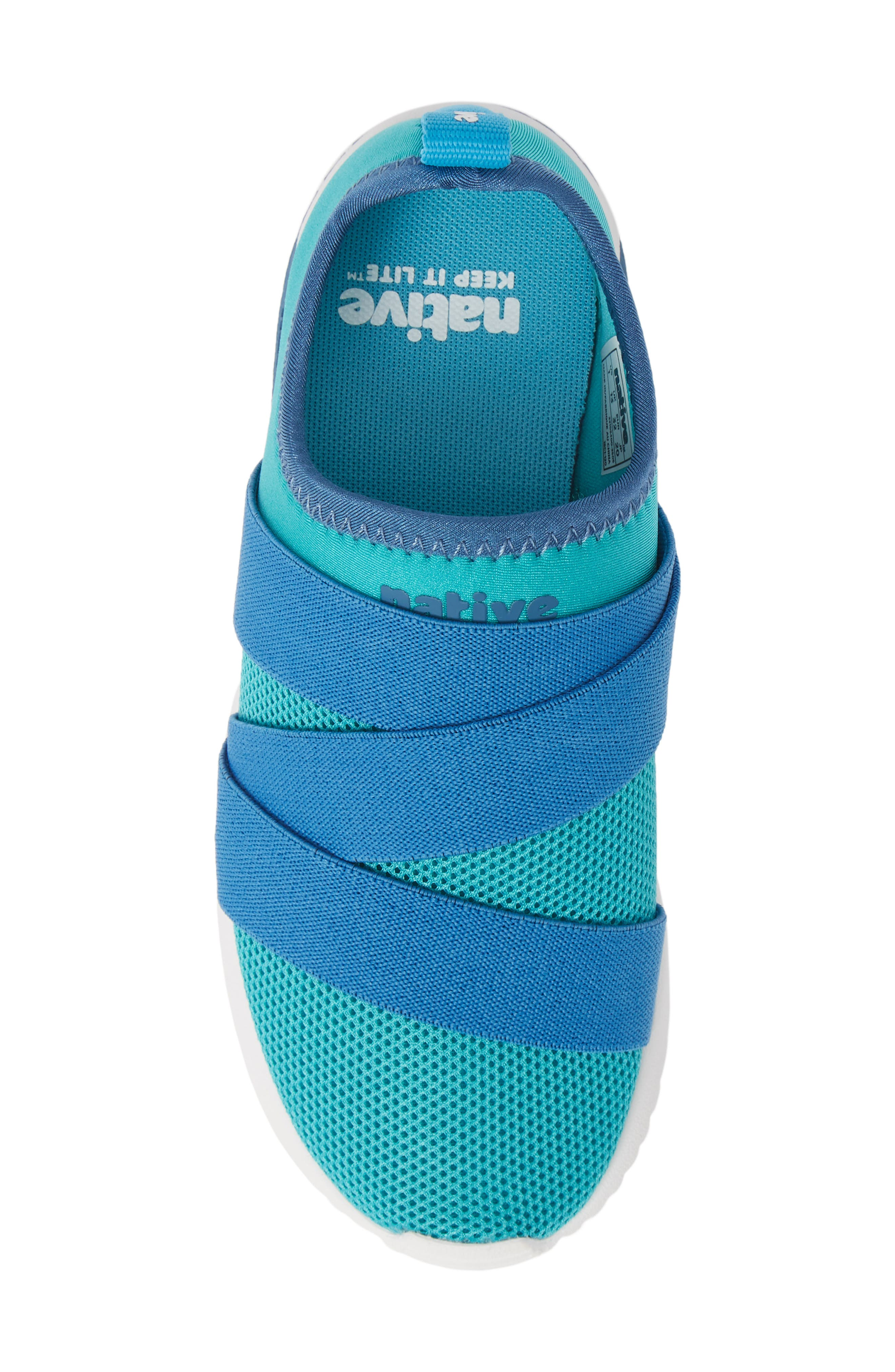 NATIVE SHOES,                             Phoenix Slip-On Vegan Sneaker,                             Alternate thumbnail 5, color,                             GLACIER GREEN/ BLUE/ WHITE
