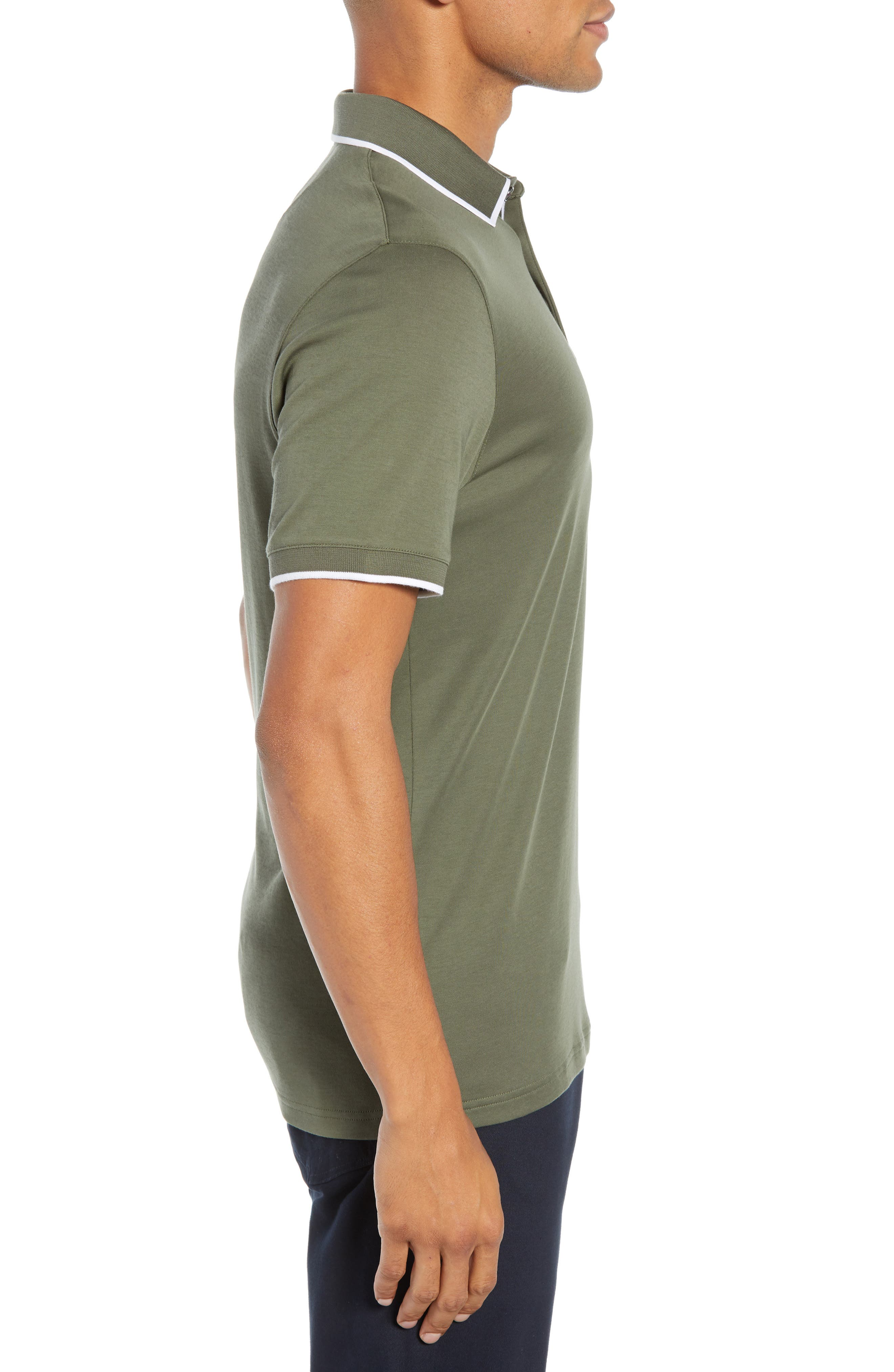 Jelly Slim Fit Tipped Pocket Polo,                             Alternate thumbnail 3, color,                             250