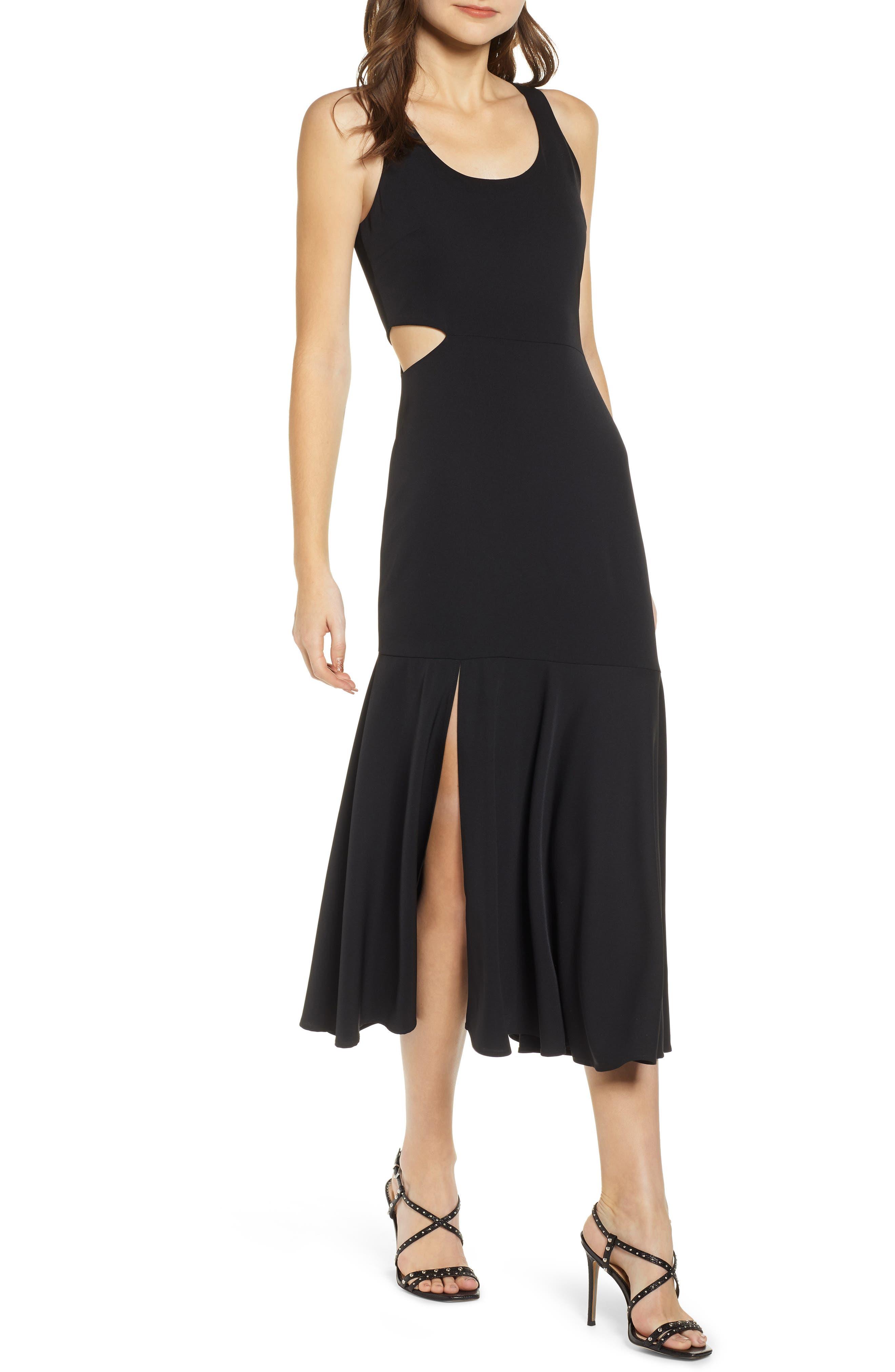 Wayf Arabella Cutout Maxi Dress, Black