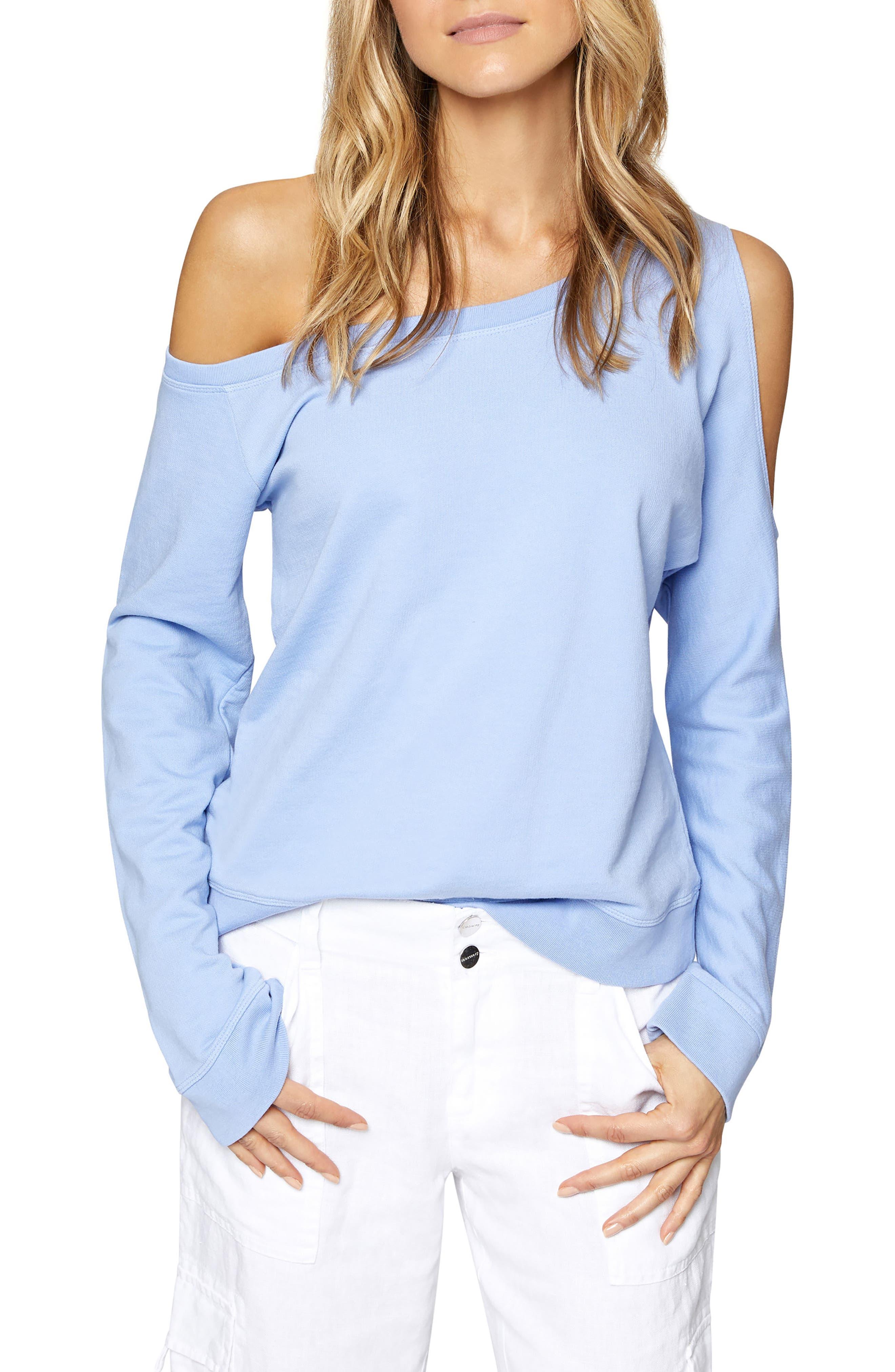 Alexi Asymmetrical Sweatshirt,                             Main thumbnail 1, color,                             450