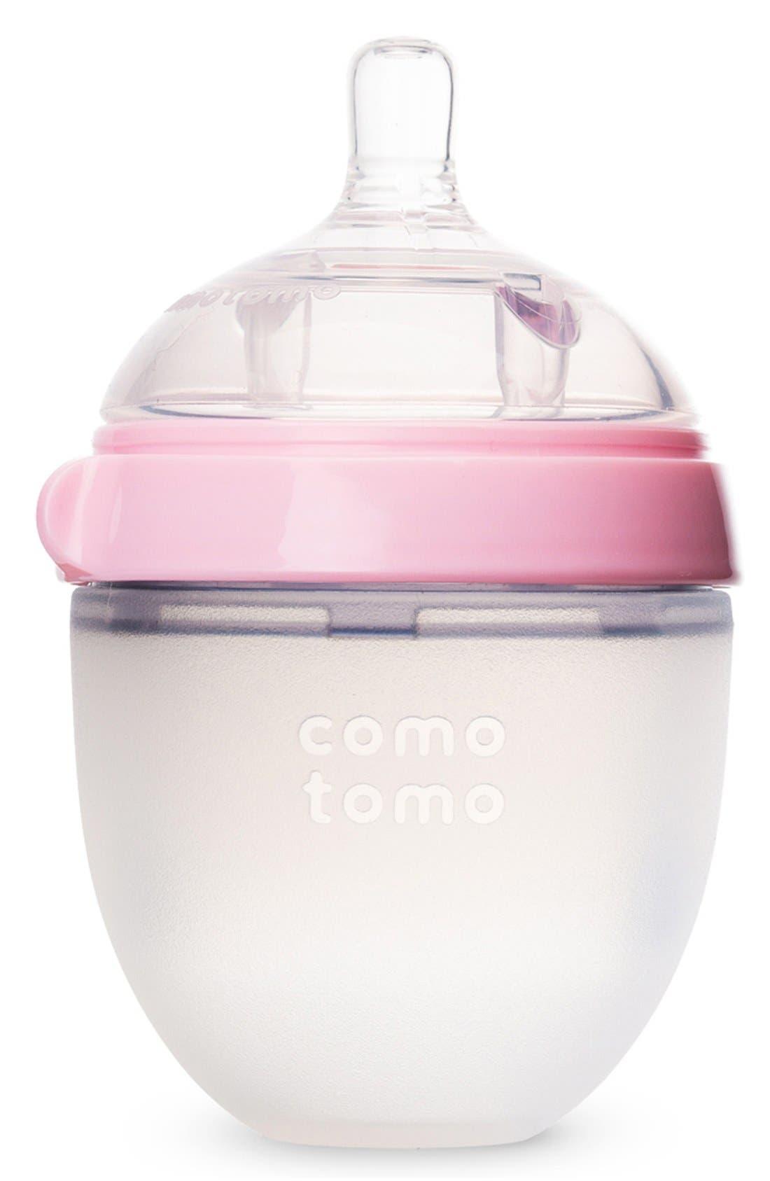 Slow Flow Baby Bottle,                             Main thumbnail 1, color,                             PINK