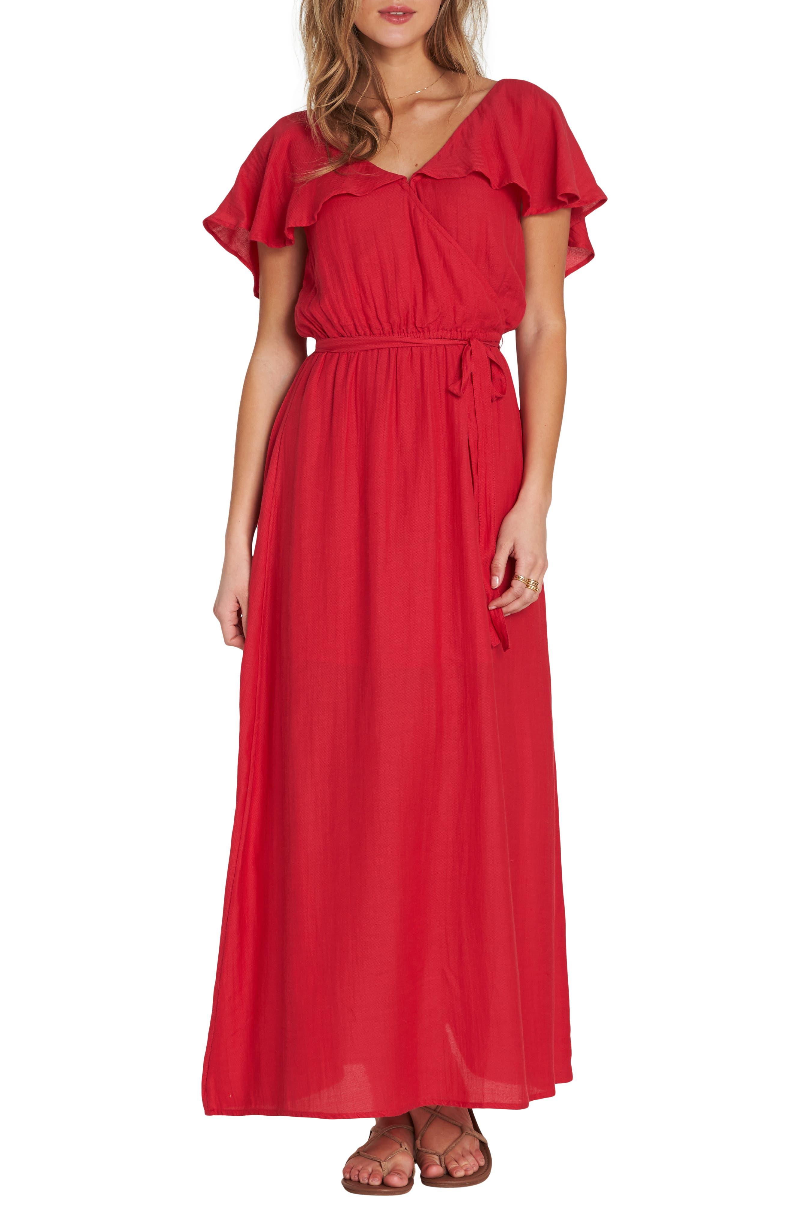 Dance All Night Maxi Dress,                         Main,                         color, GARNET
