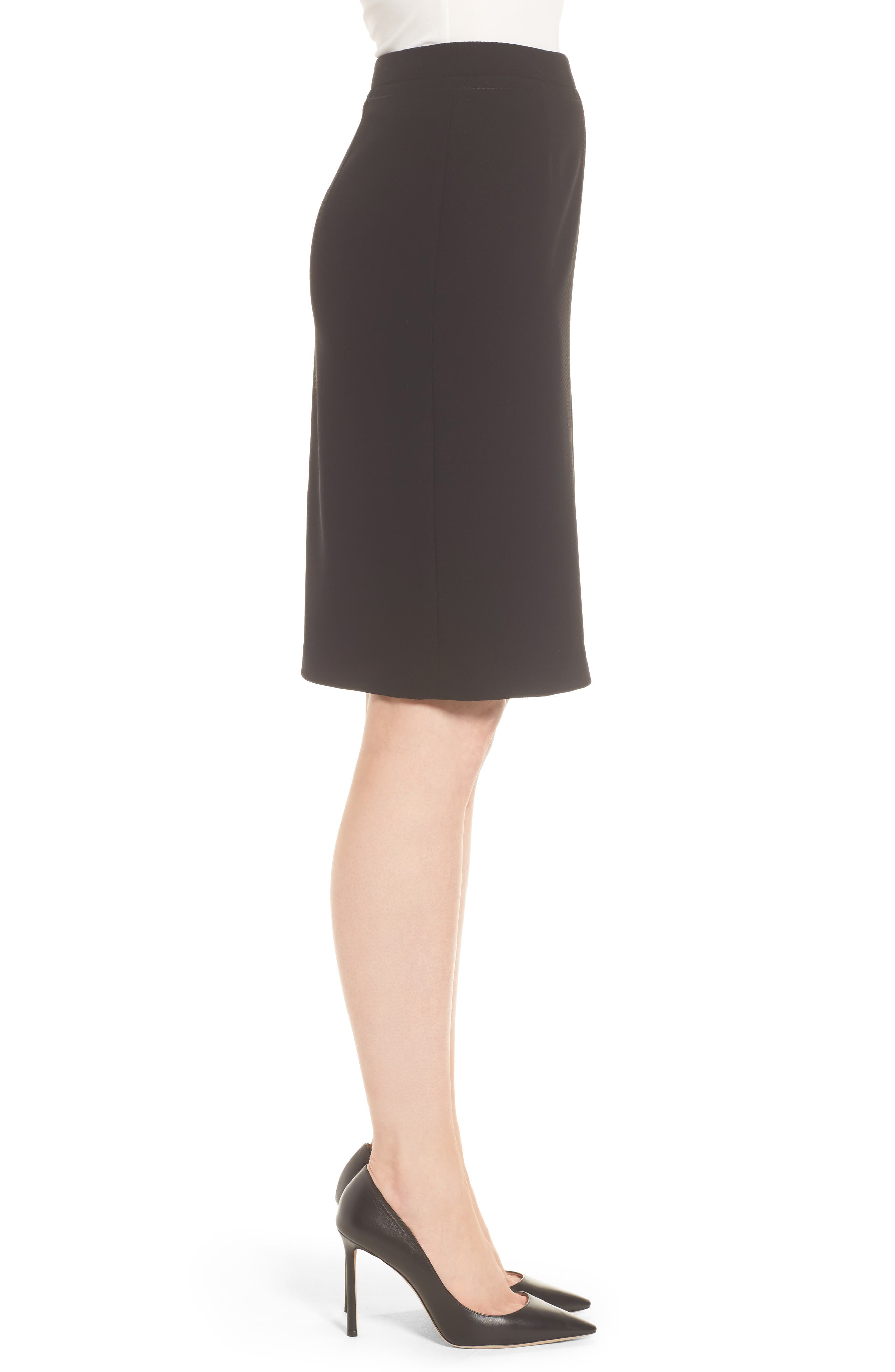 BOSS,                             Vuriona Pencil Skirt,                             Alternate thumbnail 3, color,                             001