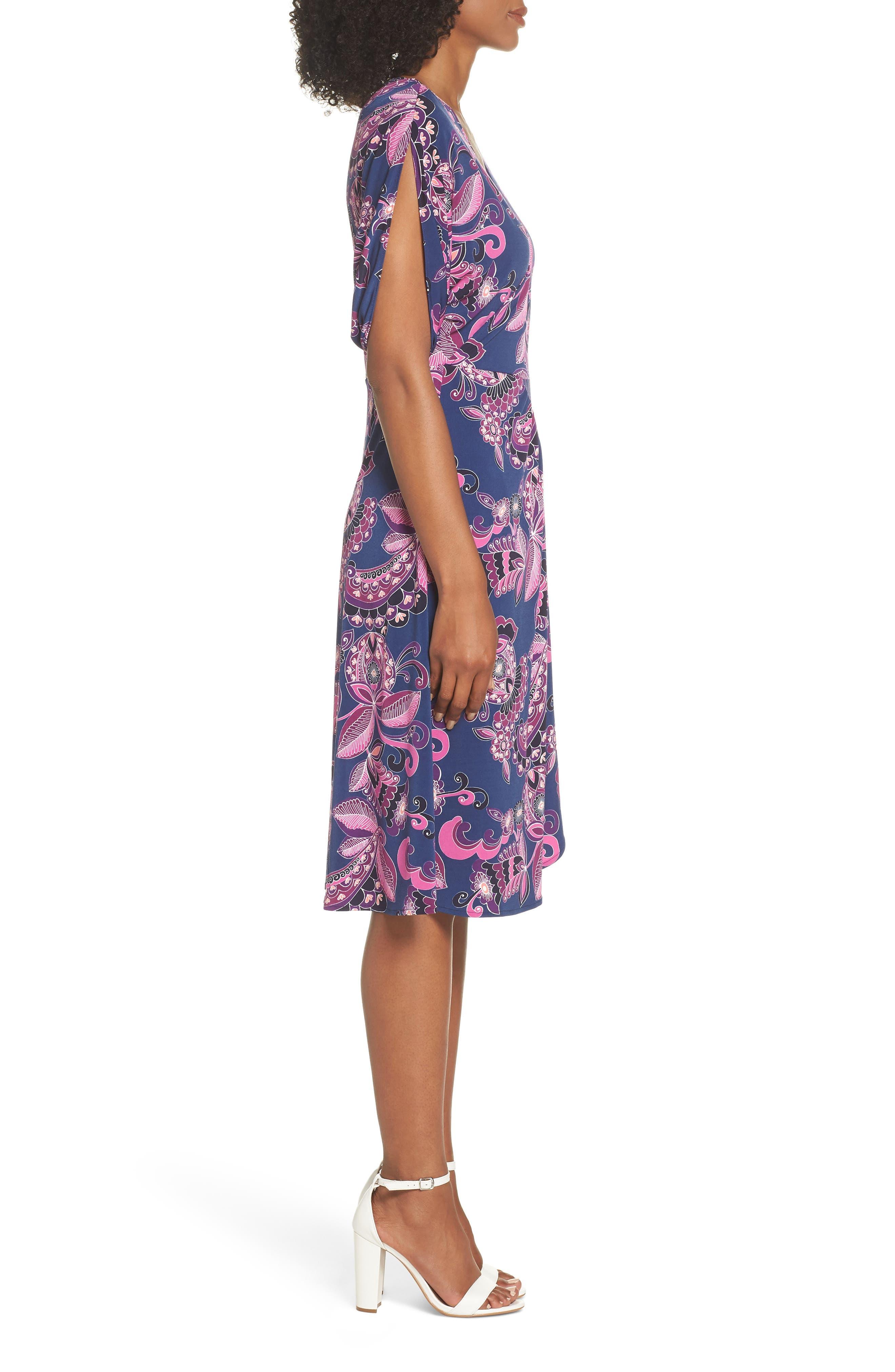 Payton Print Jersey Dress,                             Alternate thumbnail 3, color,                             MULTI