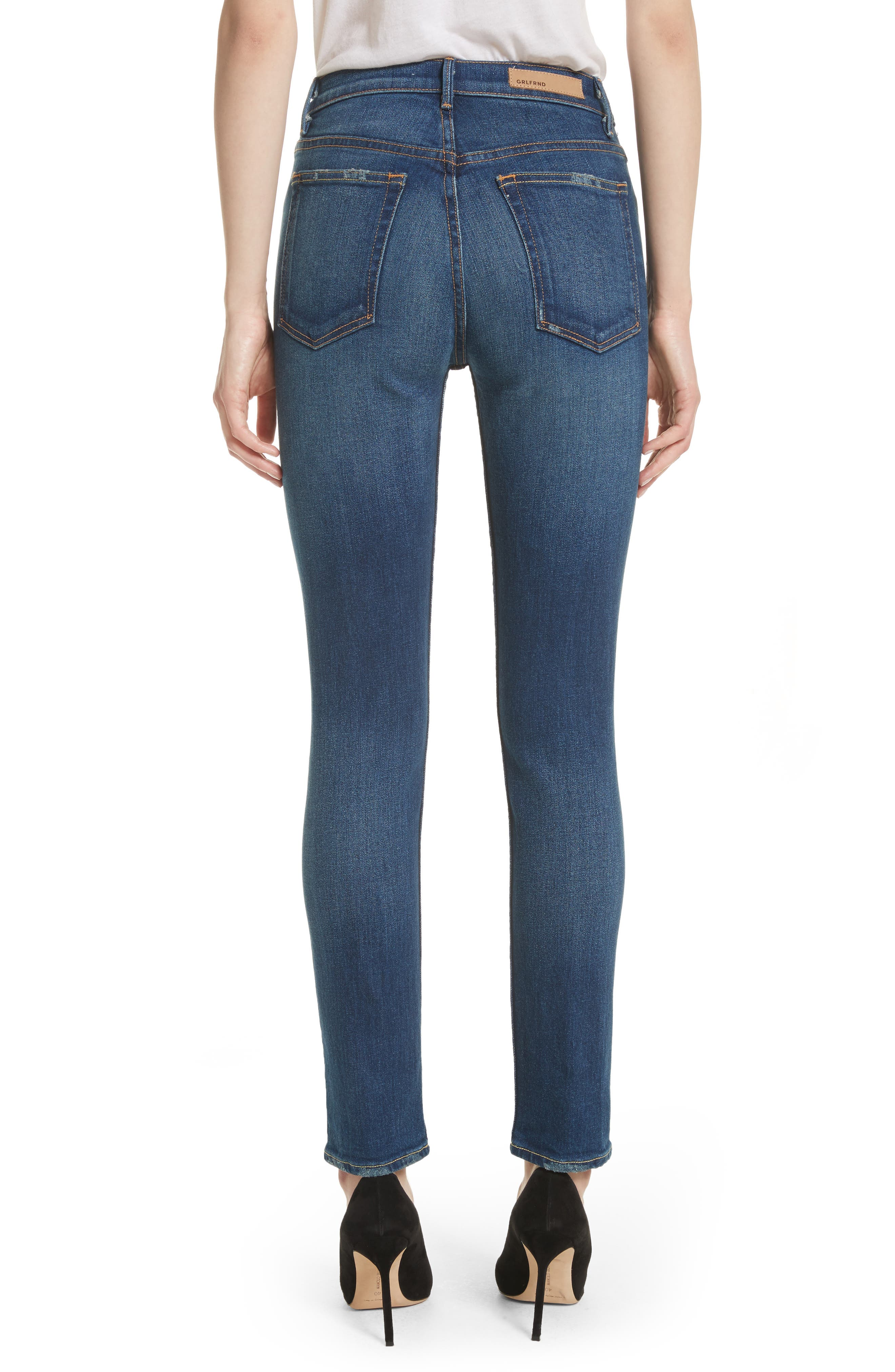 Karolina High Waist Skinny Jeans,                             Alternate thumbnail 2, color,                             JOAN JETT