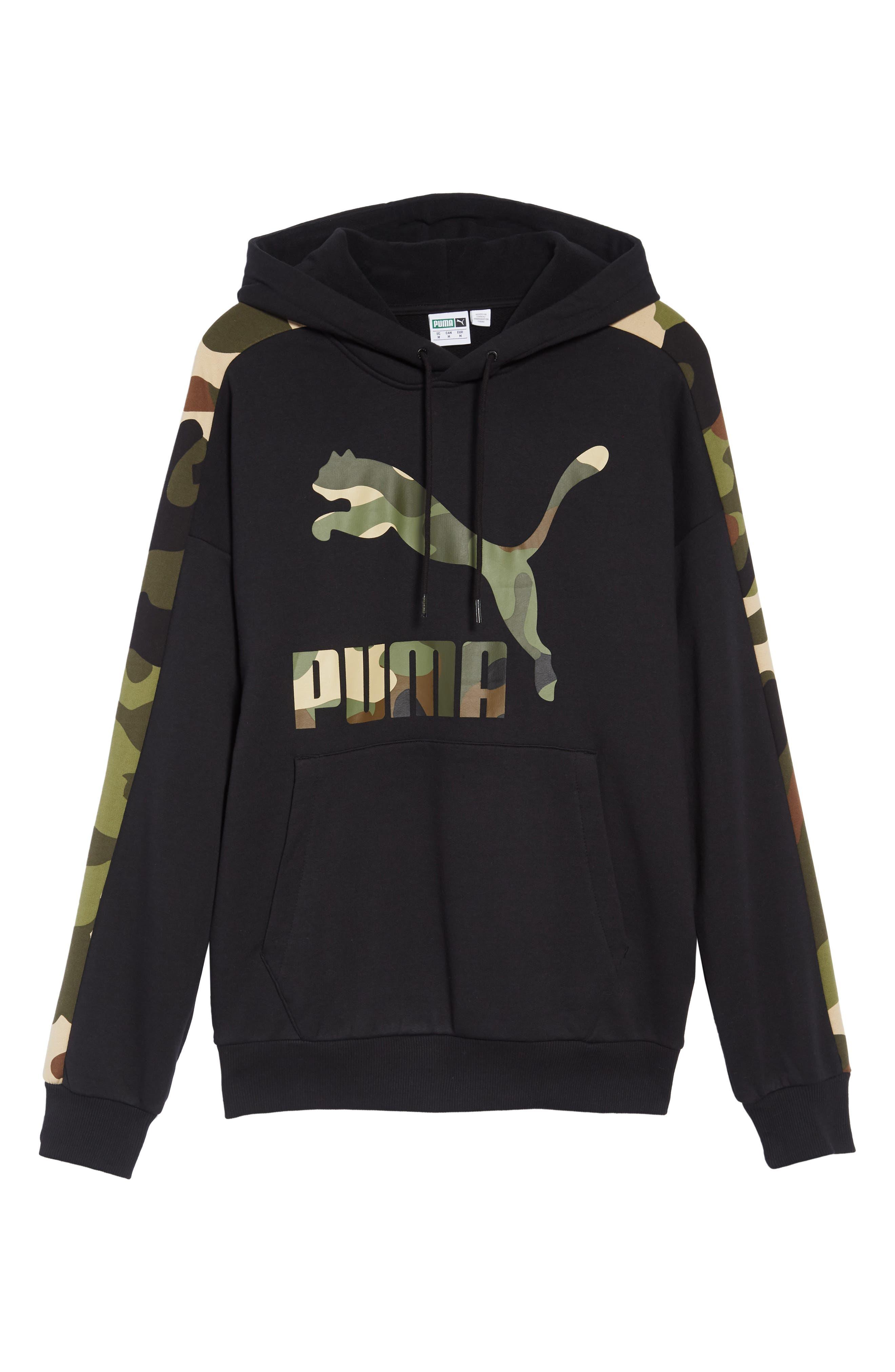 Wild Pack Track Hooded Sweatshirt,                             Alternate thumbnail 6, color,                             PUMA BLACK
