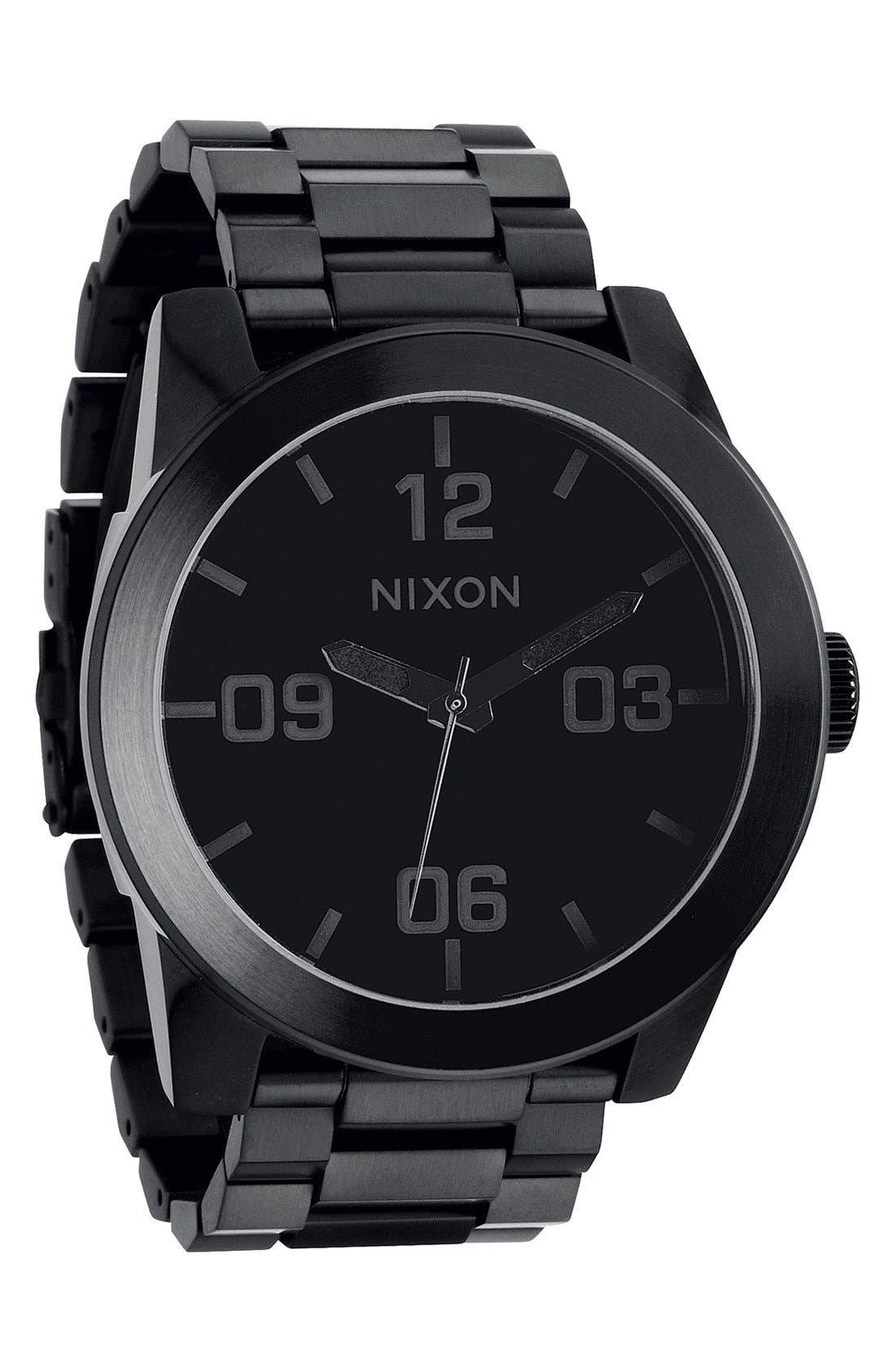 'The Corporal' Bracelet Watch, 48mm,                             Alternate thumbnail 6, color,                             BLACK