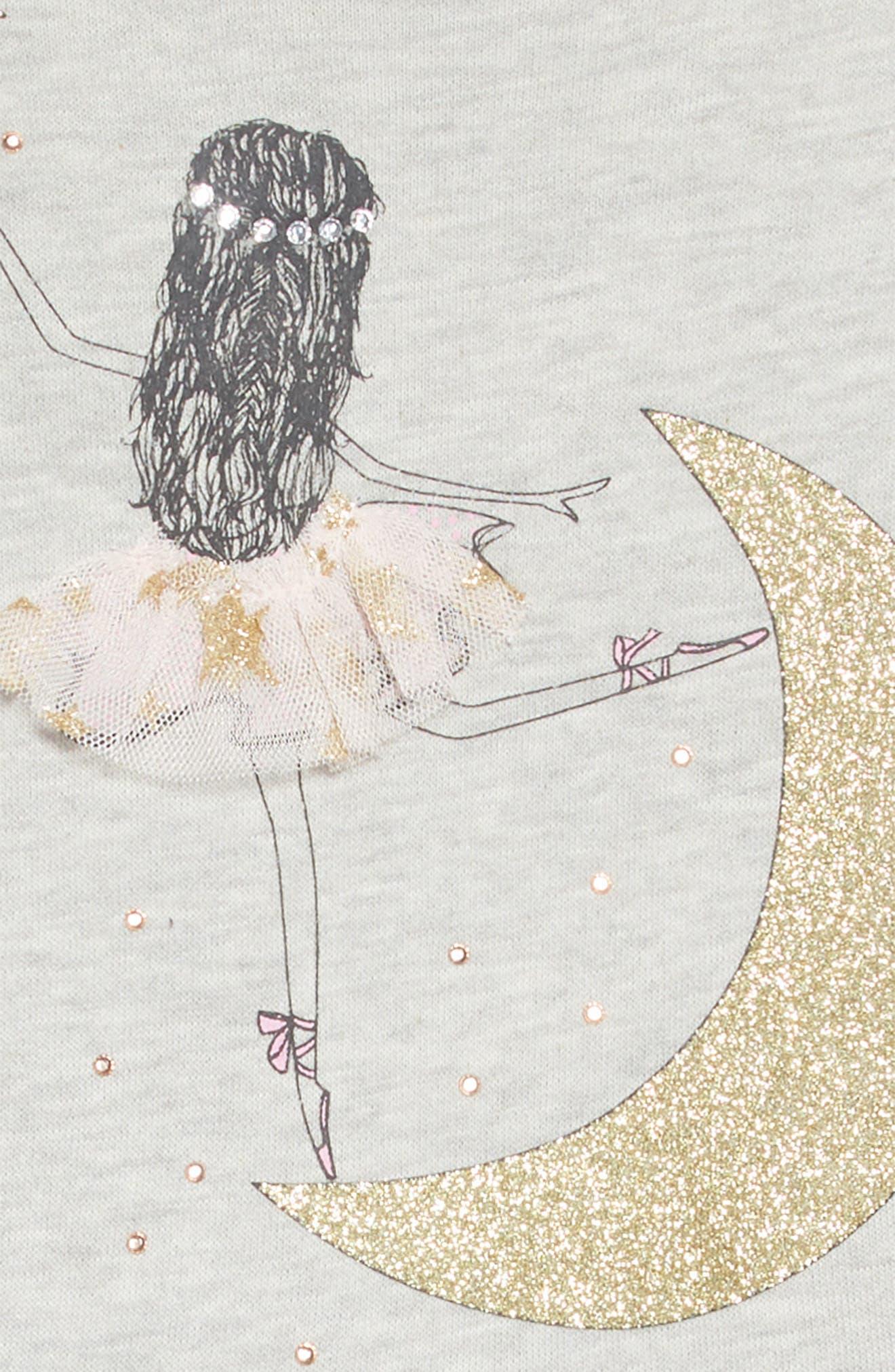 Glitter Embellished Ballerina Dress,                             Alternate thumbnail 4, color,                             GREY