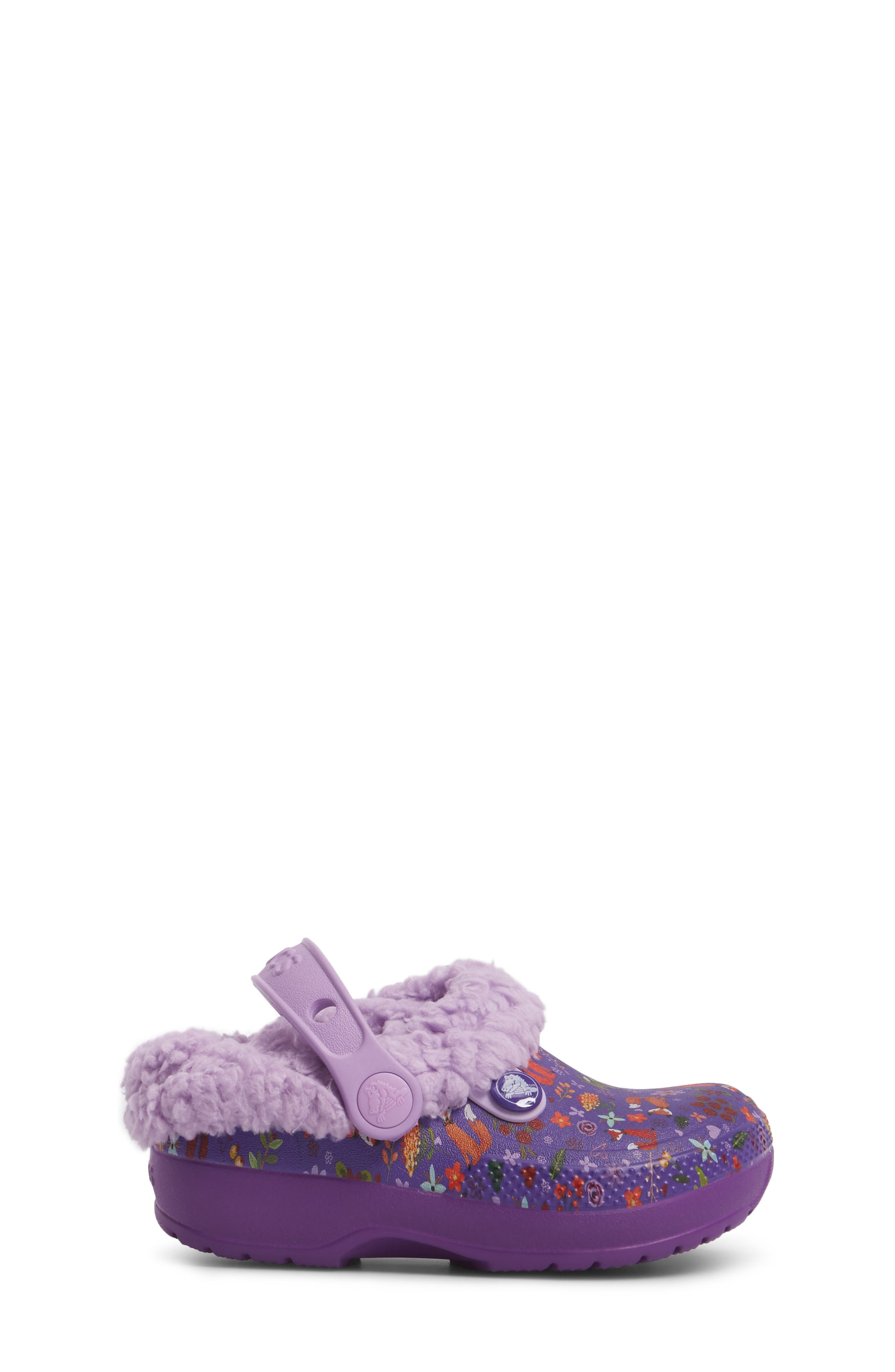 Classic Blitzen III Faux Fur Graphic Clog,                             Alternate thumbnail 3, color,                             538