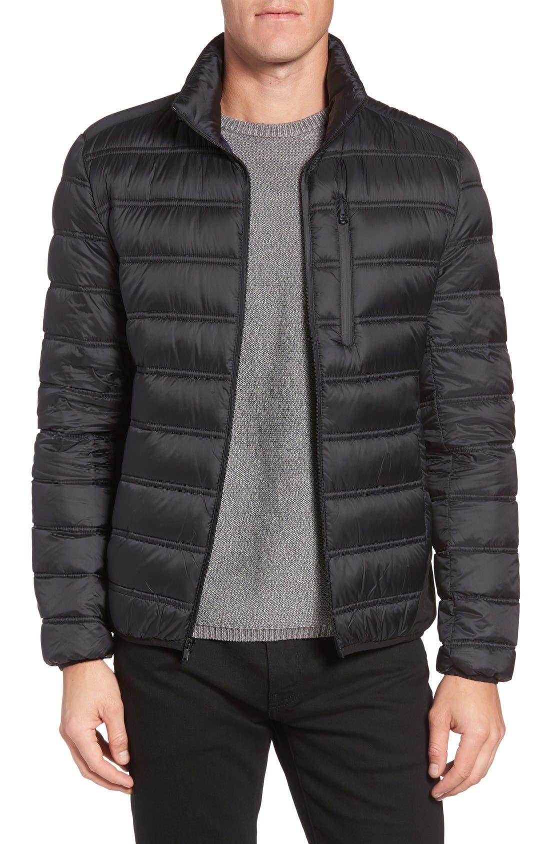 Nylon Down Fill Jacket,                         Main,                         color, 001