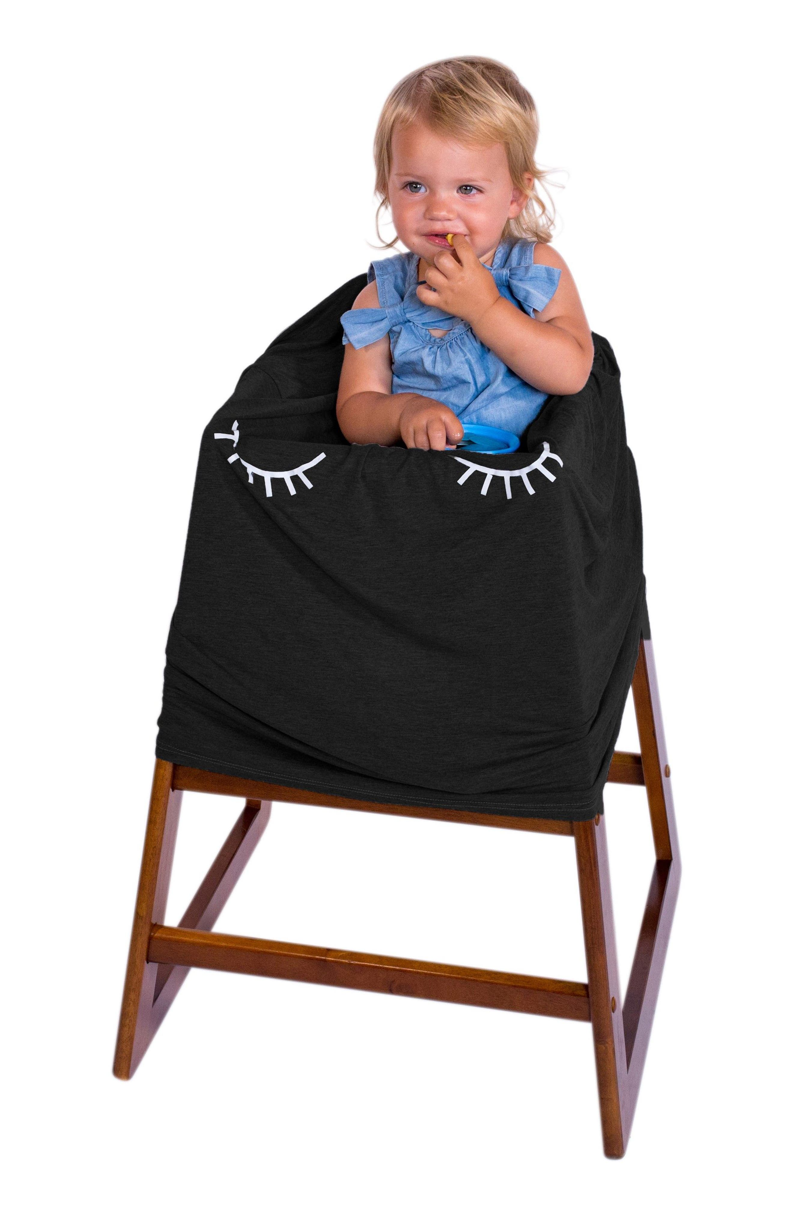 ROSIE POPE,                             5-in-1 Car Seat Cover,                             Alternate thumbnail 8, color,                             BLACK LASHES