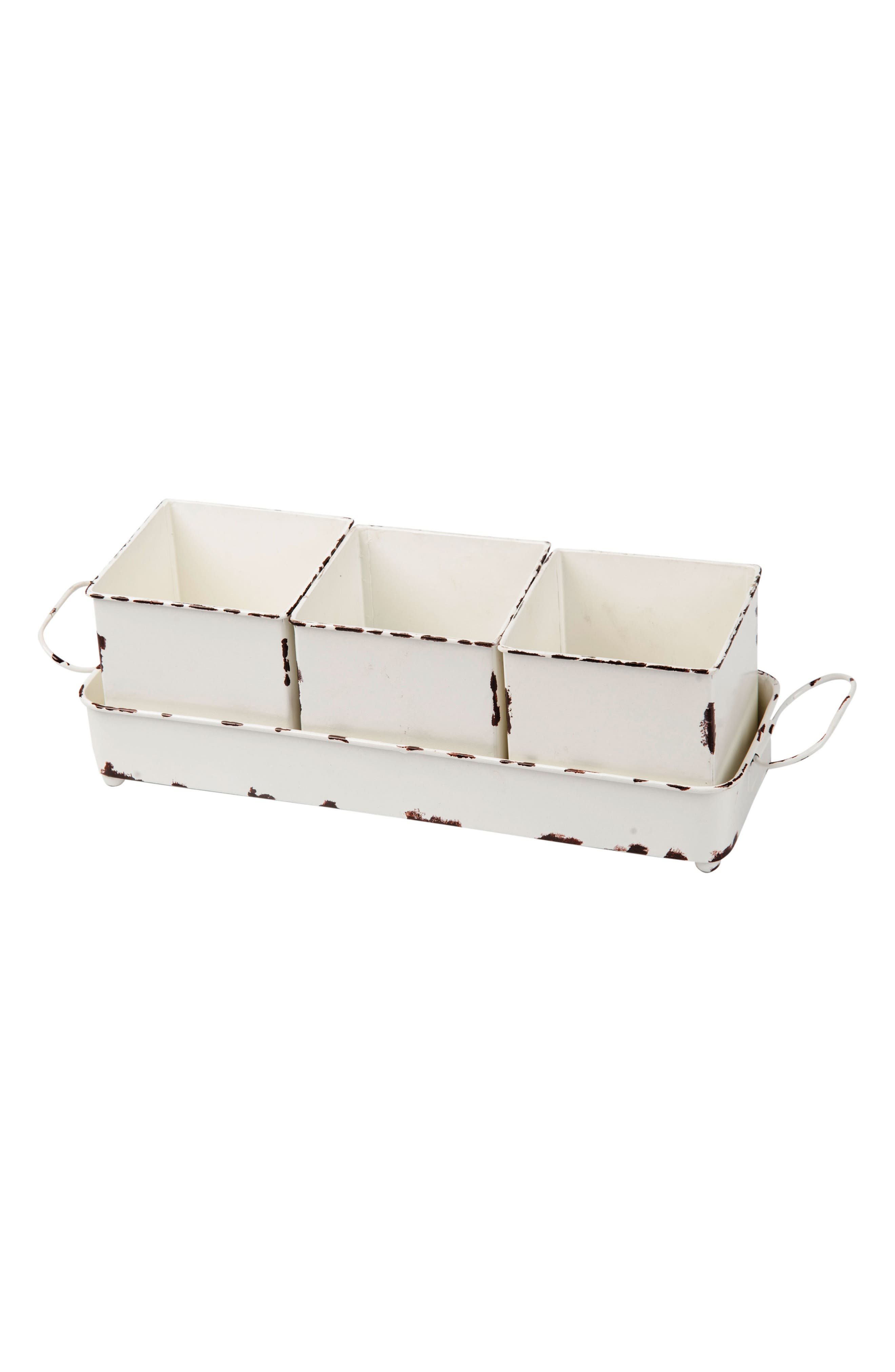 FORESIDE,                             Brook Divided Tray,                             Main thumbnail 1, color,                             WHITE/RUST