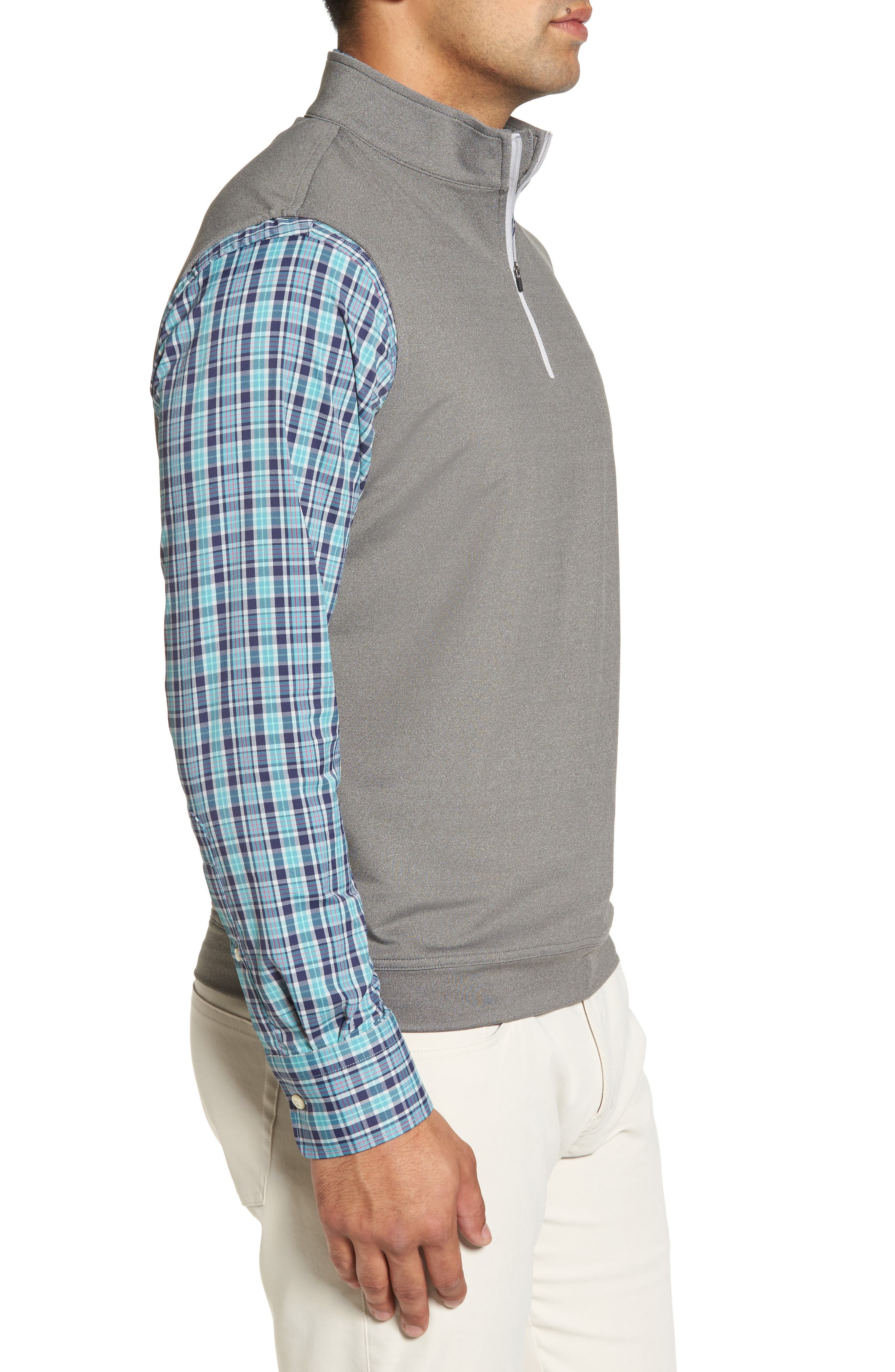 Galway Stretch Terry Quarter Zip Vest,                             Alternate thumbnail 3, color,                             025