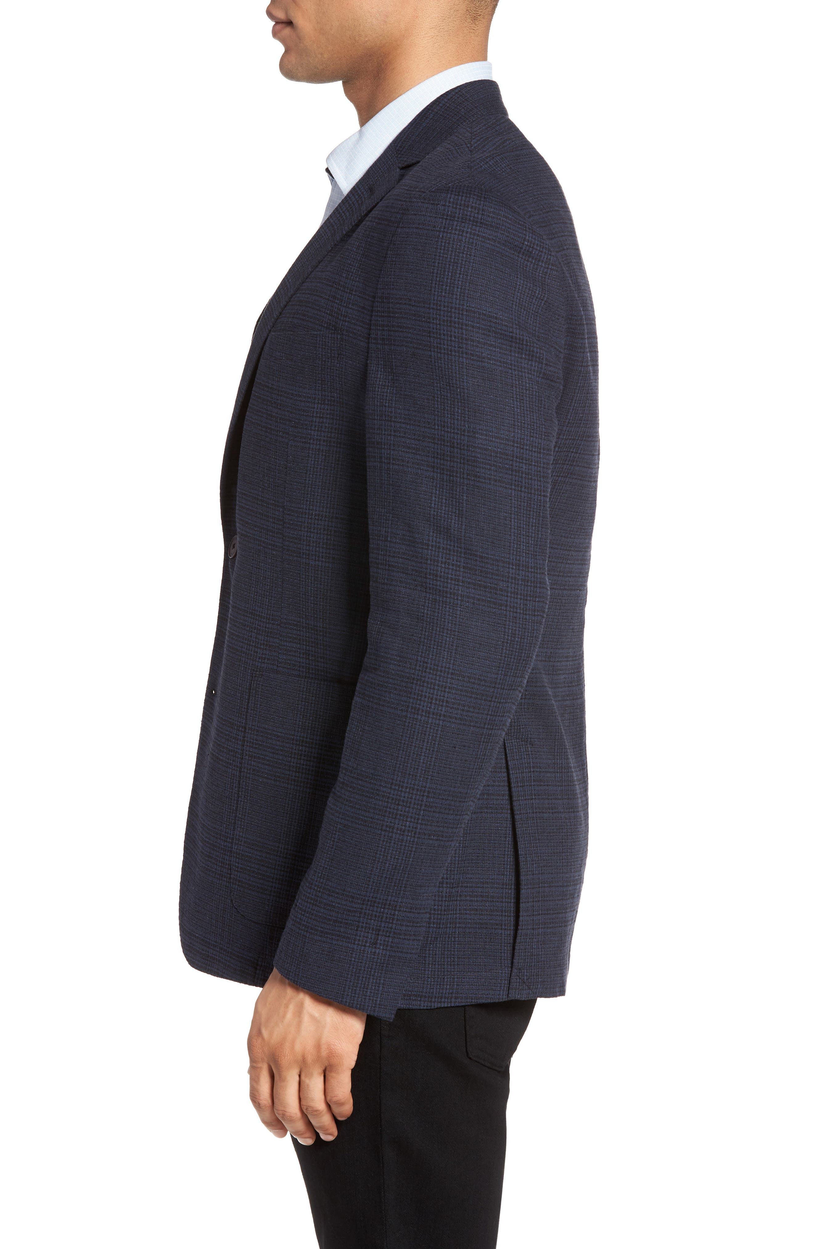 Delaria Plaid Wool Blend Jacket,                             Alternate thumbnail 6, color,