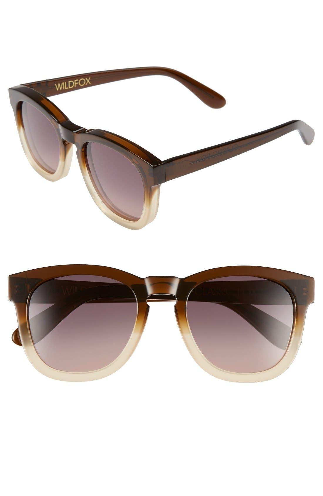 'Classic Fox' 50mm Retro Sunglasses,                             Main thumbnail 13, color,