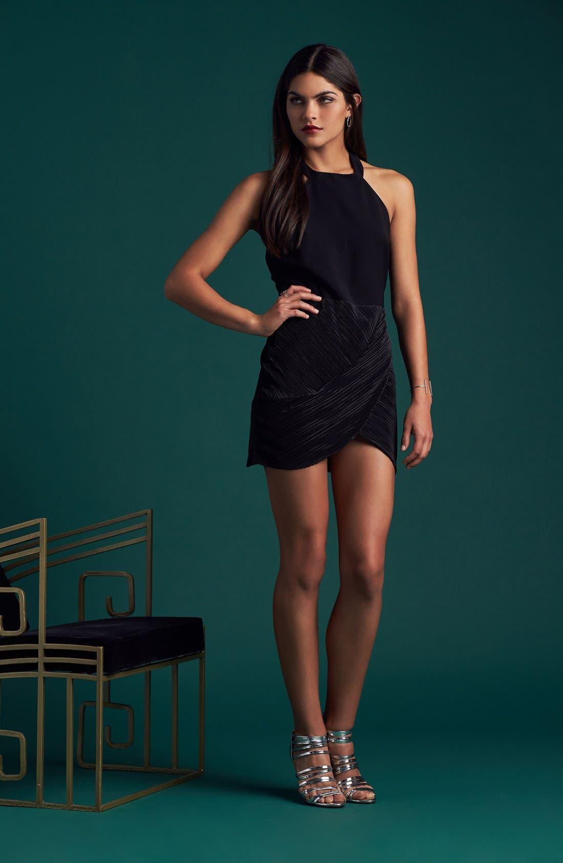 NBD,                             Evelyn T-Back Dress,                             Alternate thumbnail 8, color,                             001