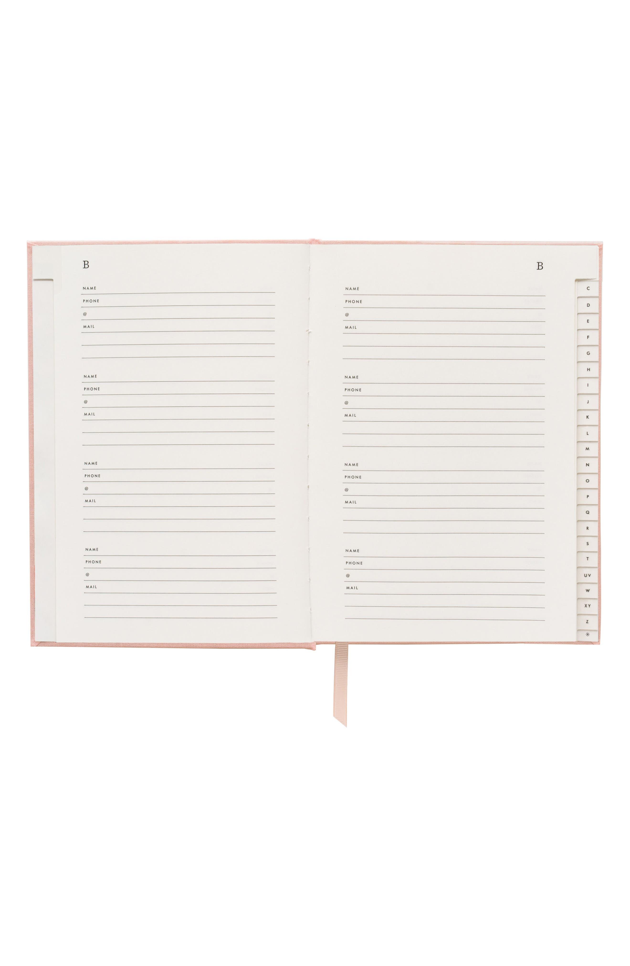 Blush Address Book,                             Alternate thumbnail 2, color,                             PINK