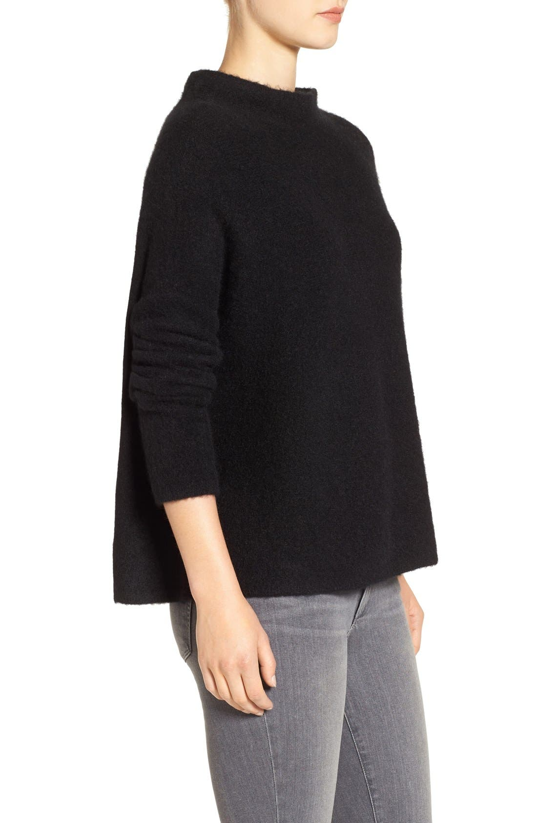 'Bouclé Bliss' Cashmere & Silk Blend Funnel Neck Sweater,                             Alternate thumbnail 14, color,