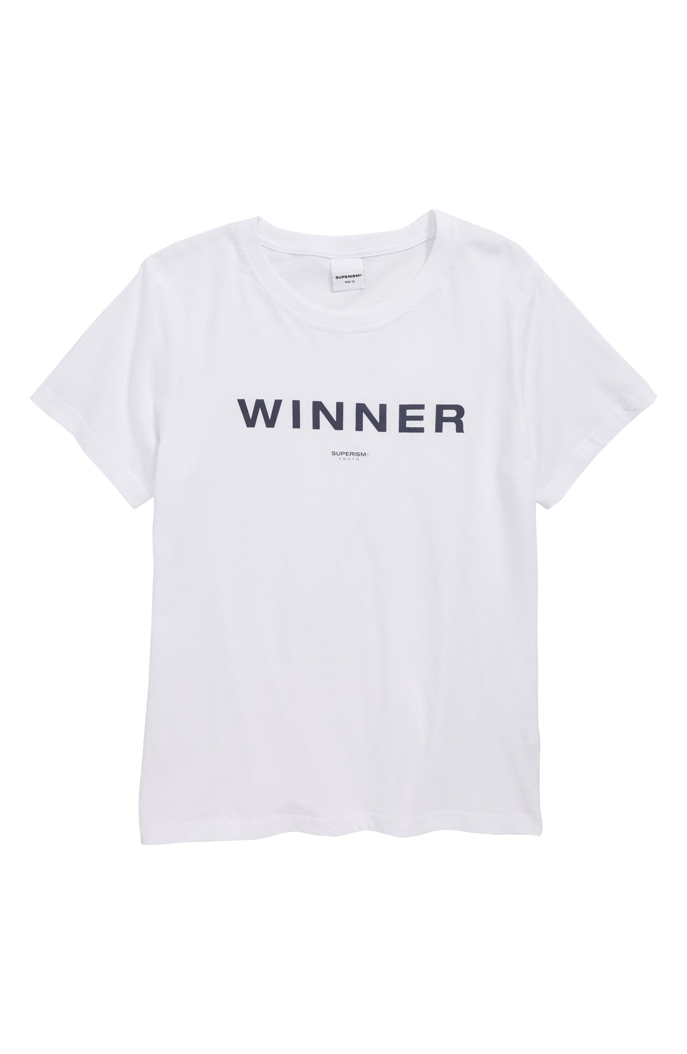 Winner Graphic T-Shirt,                             Main thumbnail 1, color,                             100
