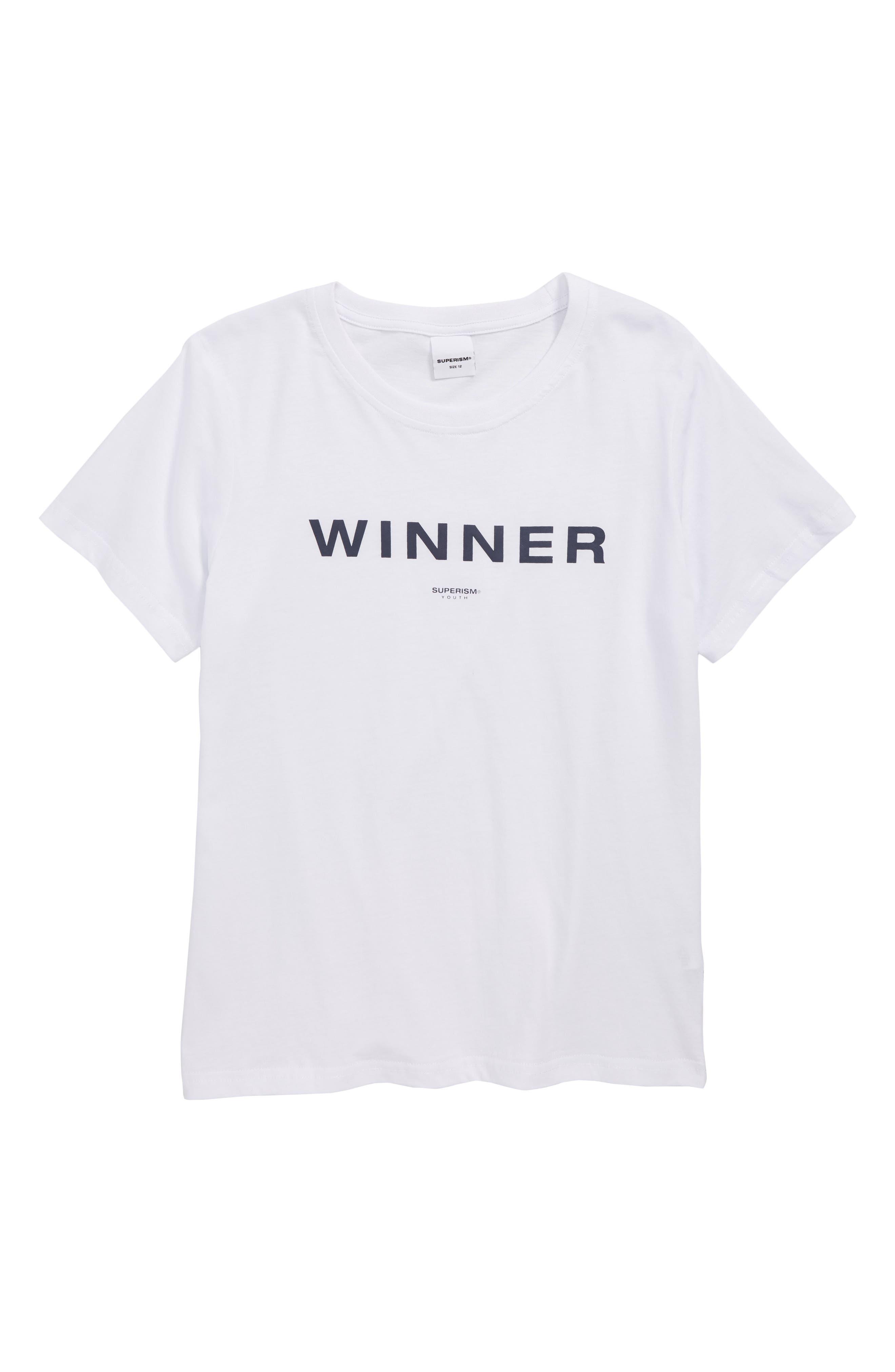 Winner Graphic T-Shirt,                         Main,                         color, 100