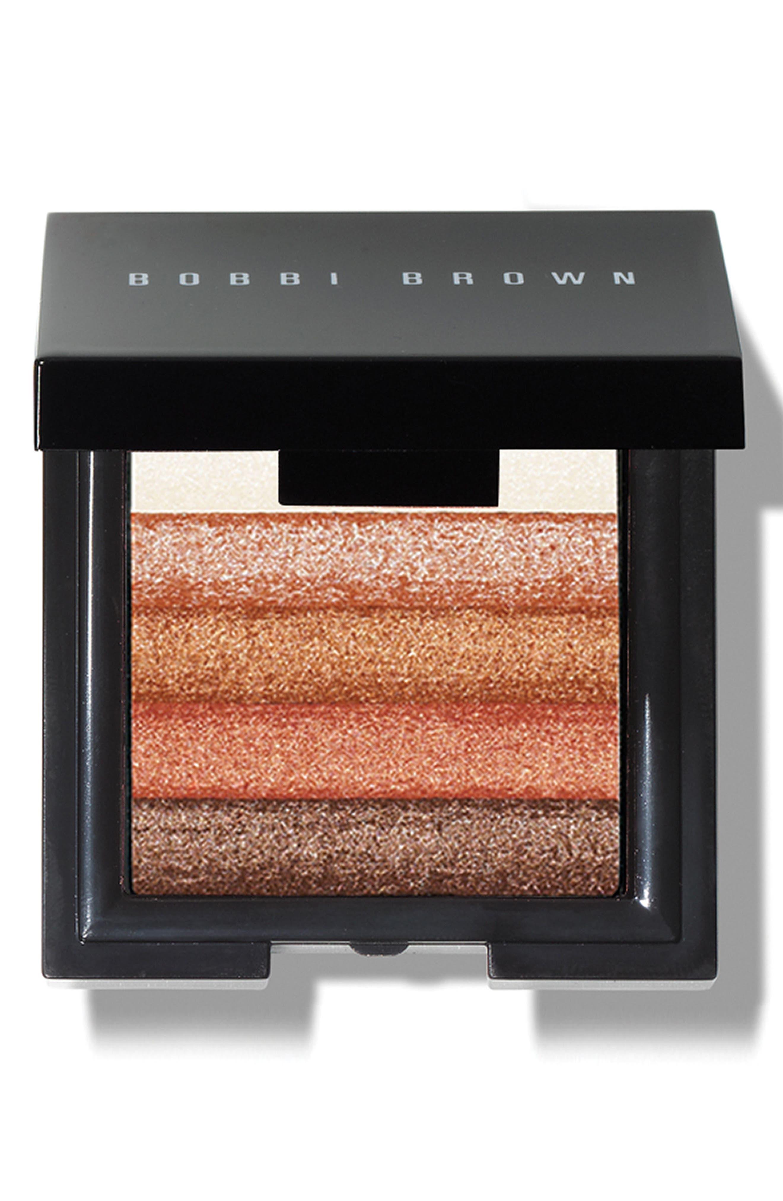 Mini Shimmer Brick Compact,                             Main thumbnail 1, color,                             BRONZE