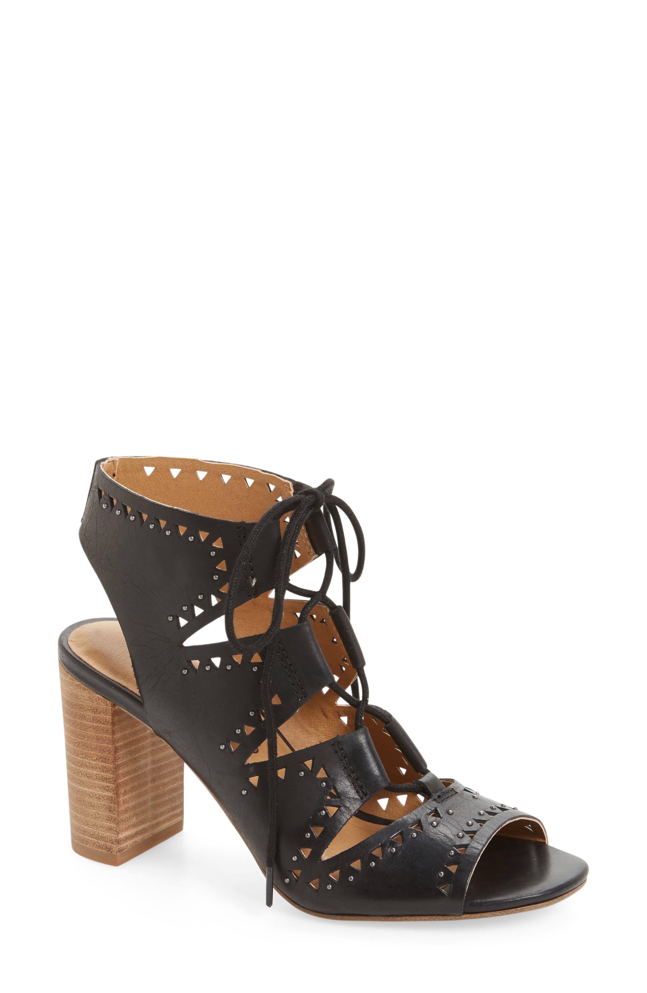 Tafia Lace-Up Sandal,                         Main,                         color, 001