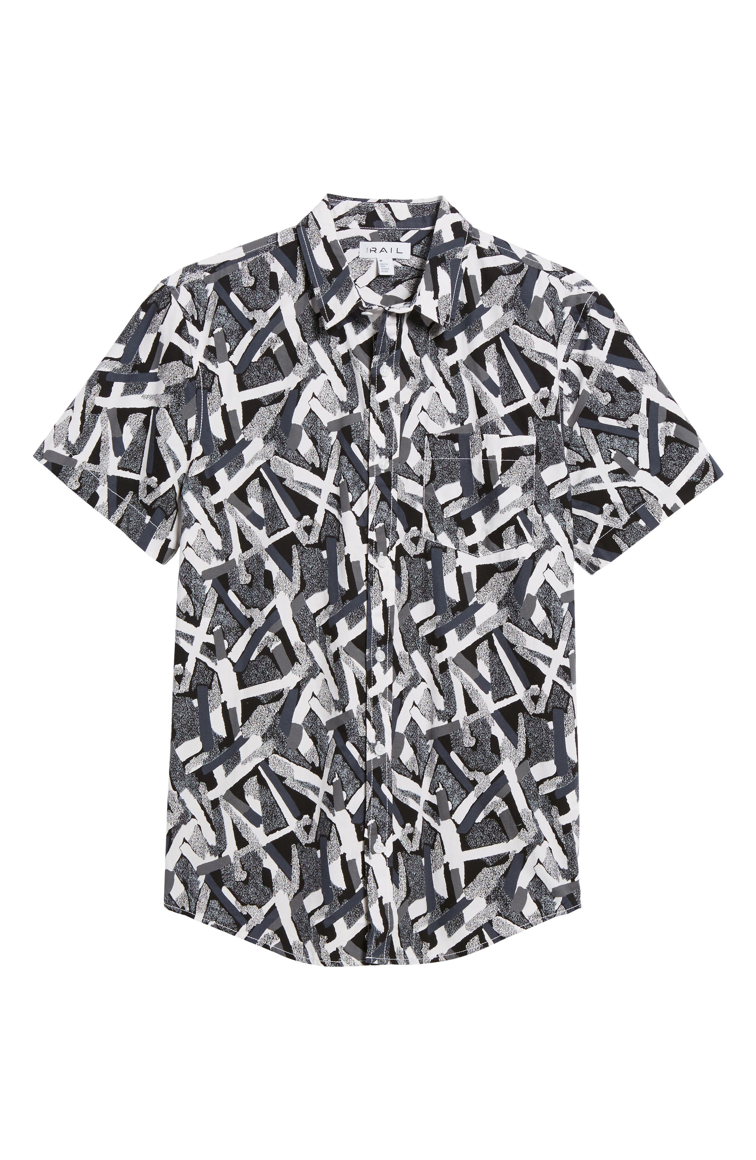 Short Sleeve Print Poplin Shirt,                             Alternate thumbnail 29, color,