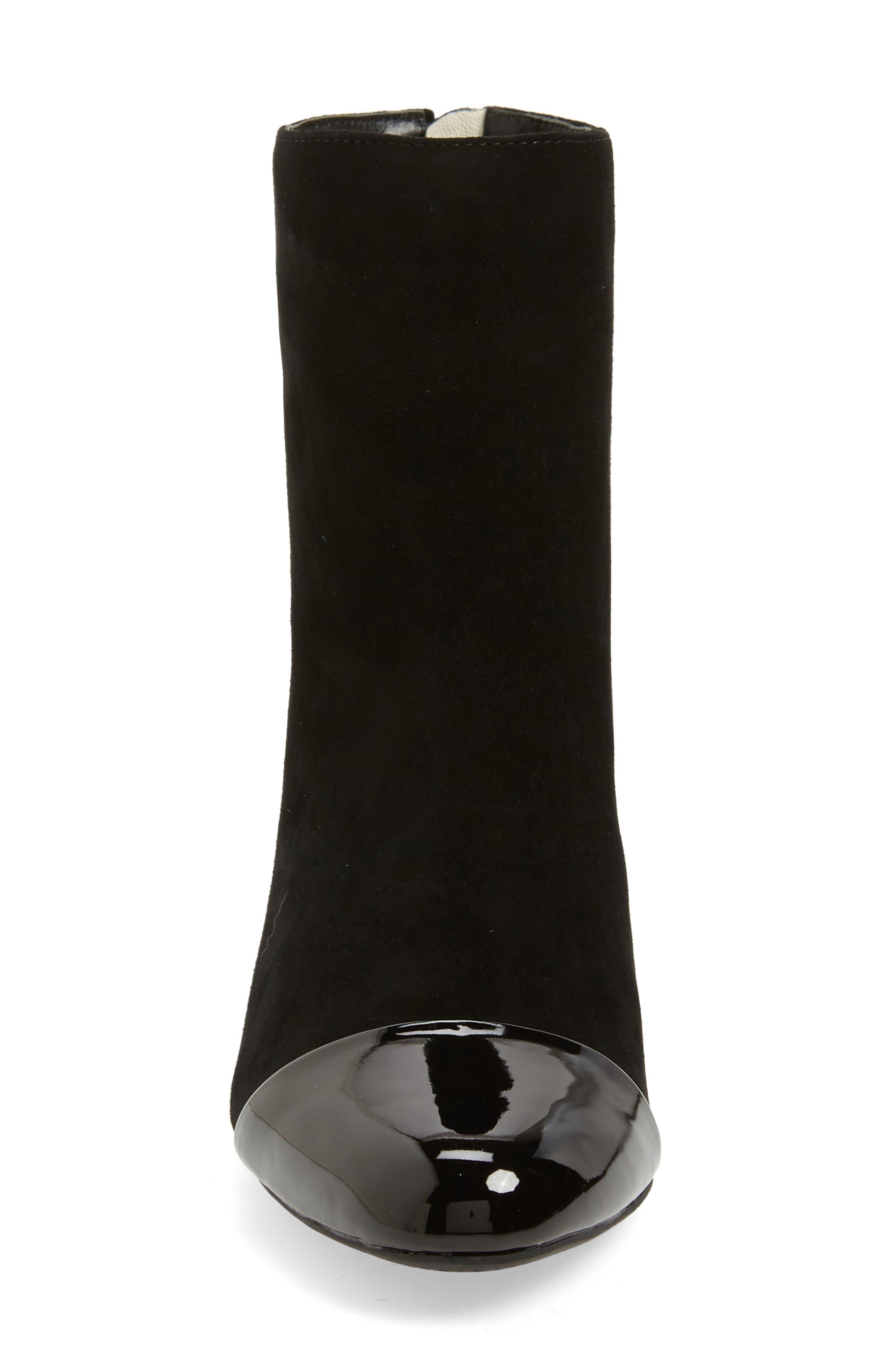 Whitaker Boot,                             Alternate thumbnail 4, color,                             BLACK SUEDE/BLACK PATENT