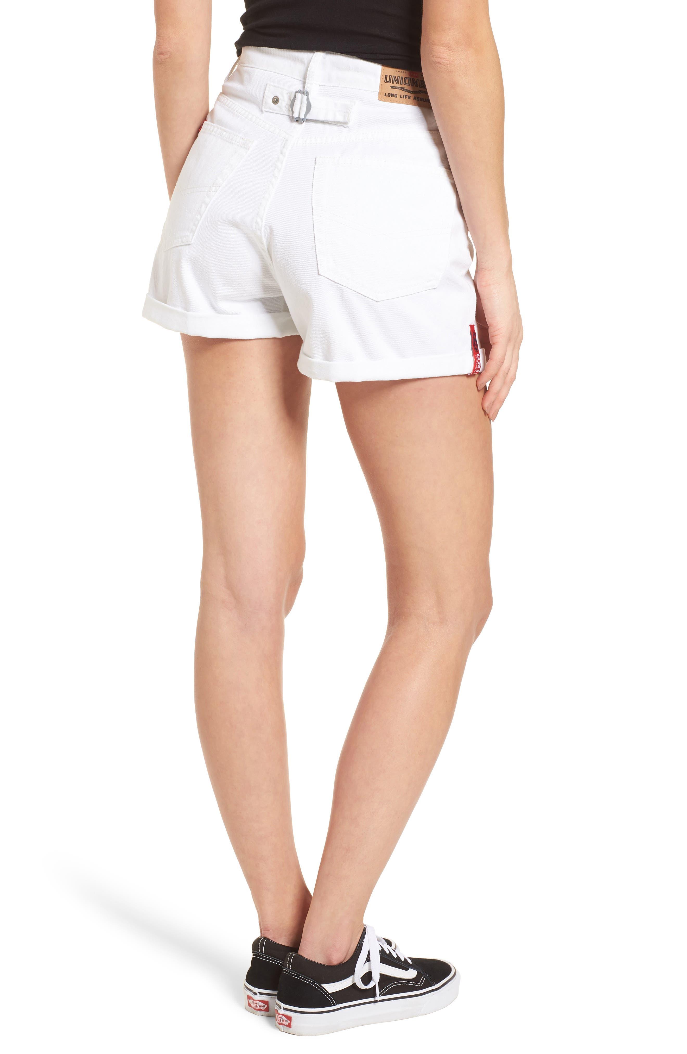 Unionbay UB Tab Denim Shorts,                             Alternate thumbnail 2, color,                             100