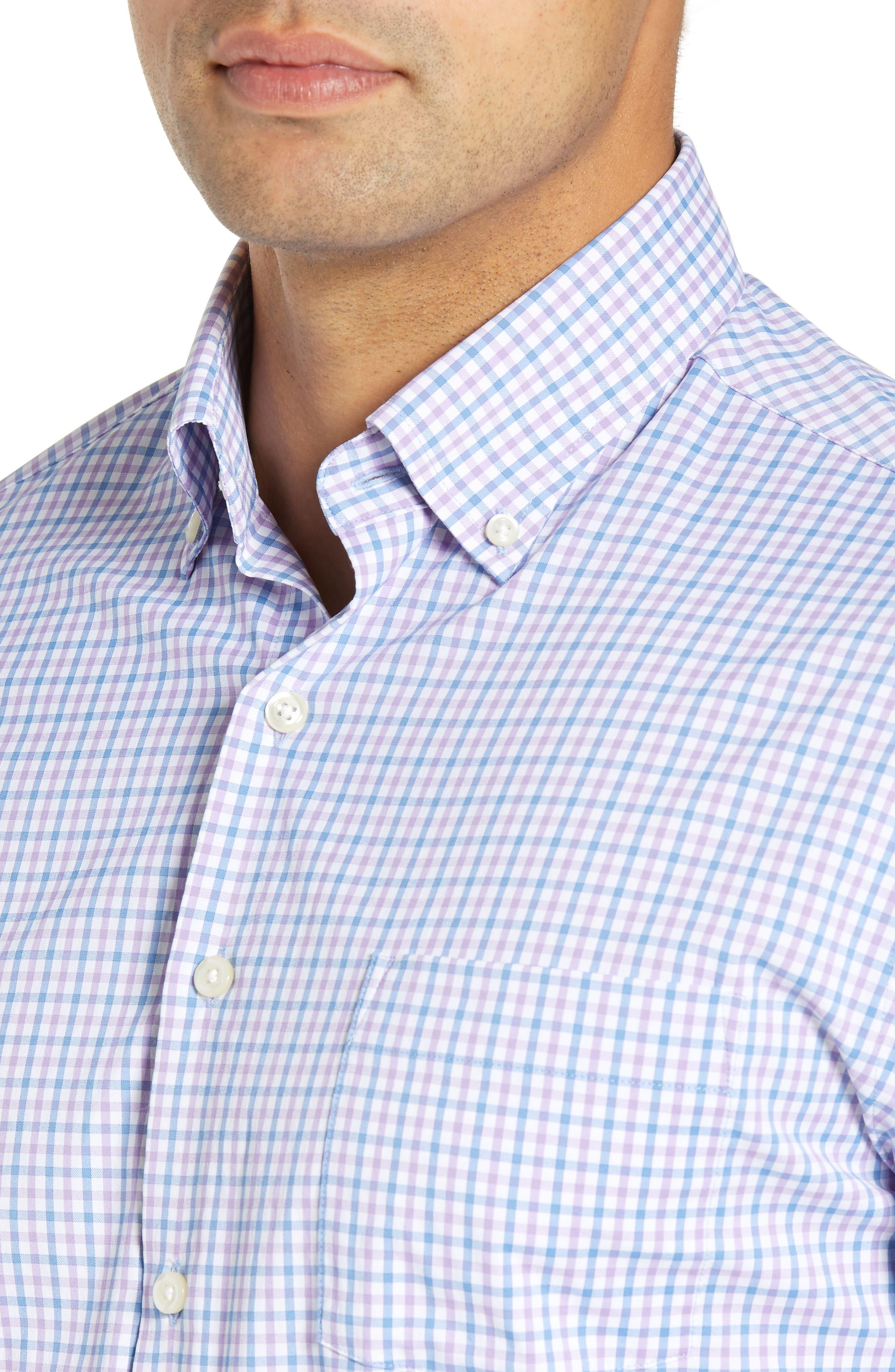 Natural Touch Regular Fit Performance Sport Shirt,                             Alternate thumbnail 2, color,                             VESSEL/ BRITISH GREY
