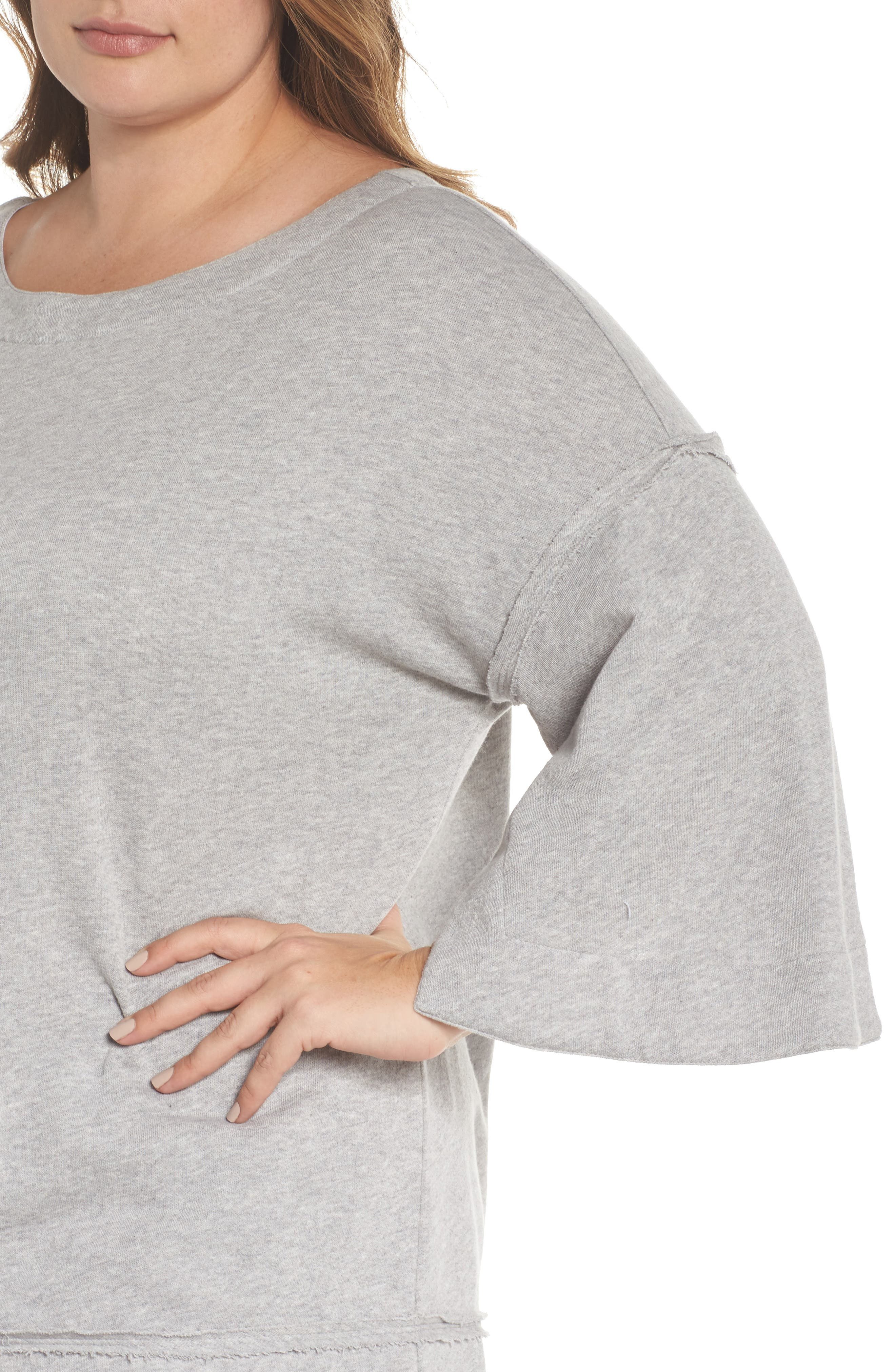 Split Sleeve Sweatshirt,                             Alternate thumbnail 11, color,
