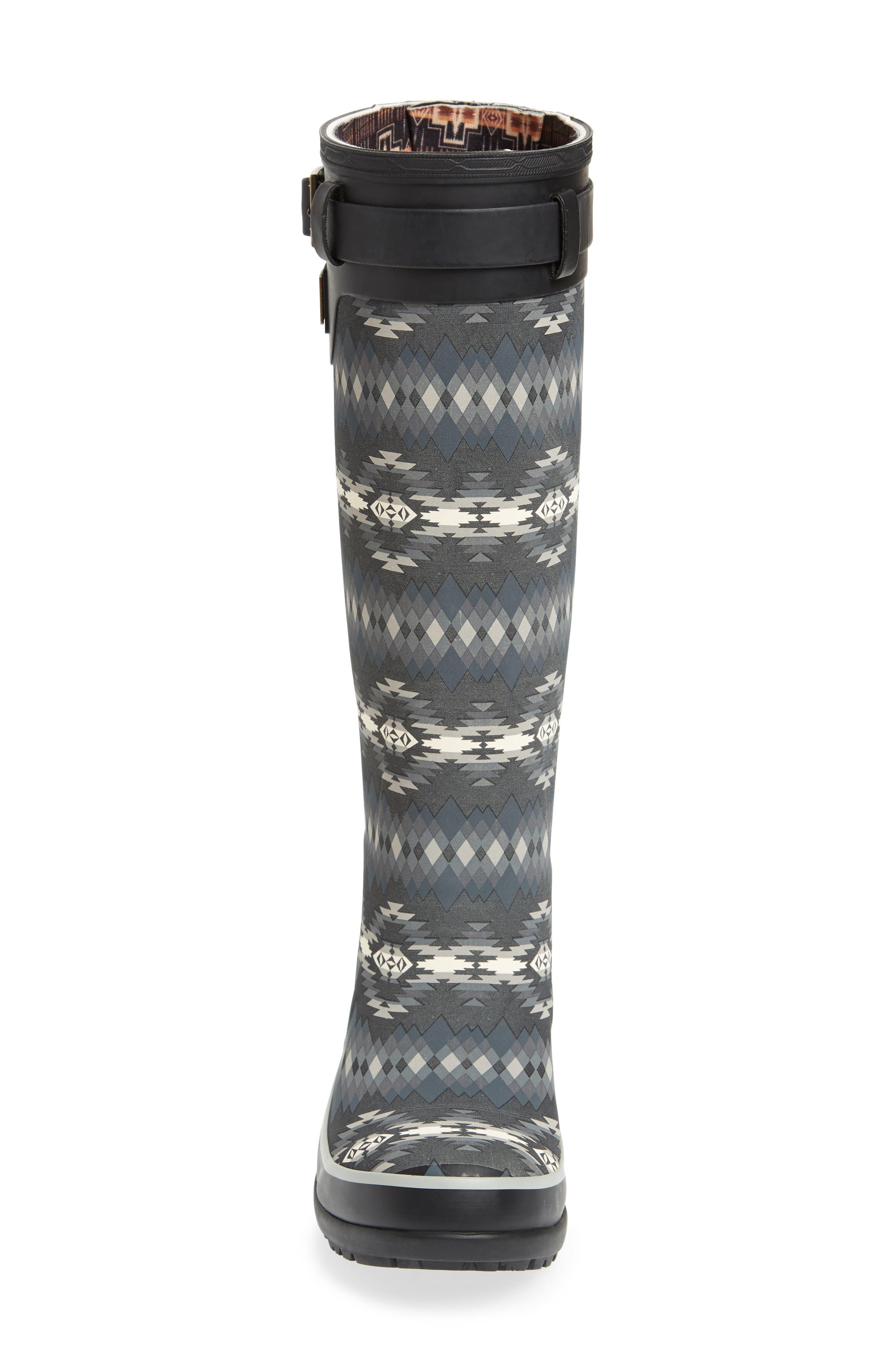 Pendleton Papago Park Tall Rain Boot,                             Alternate thumbnail 4, color,                             BLACK