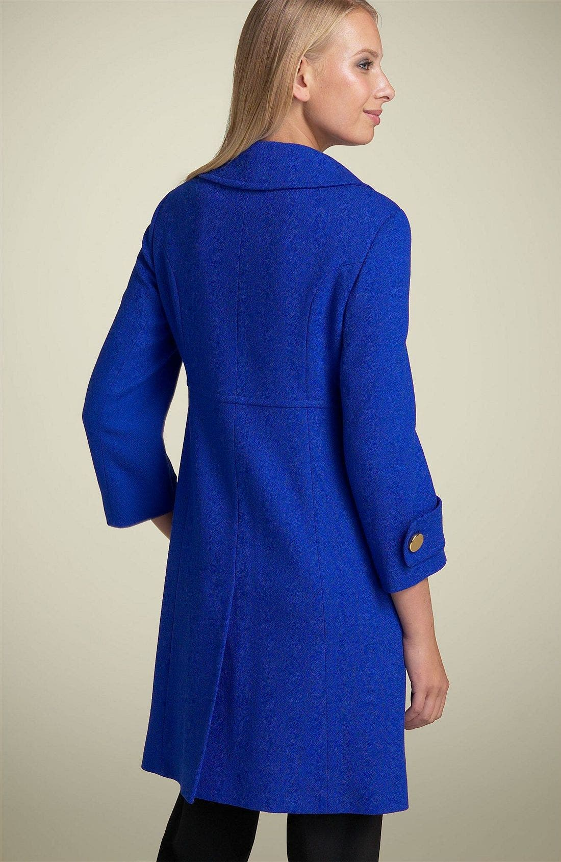 Charles Gray Wool Princess Coat,                             Alternate thumbnail 2, color,                             460
