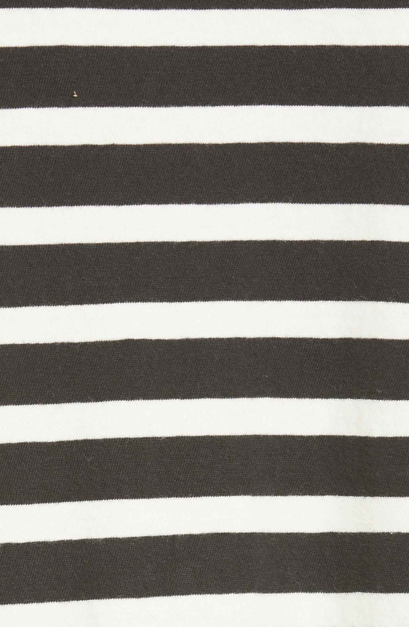 The Ruffle Stripe Tee,                             Alternate thumbnail 5, color,                             001
