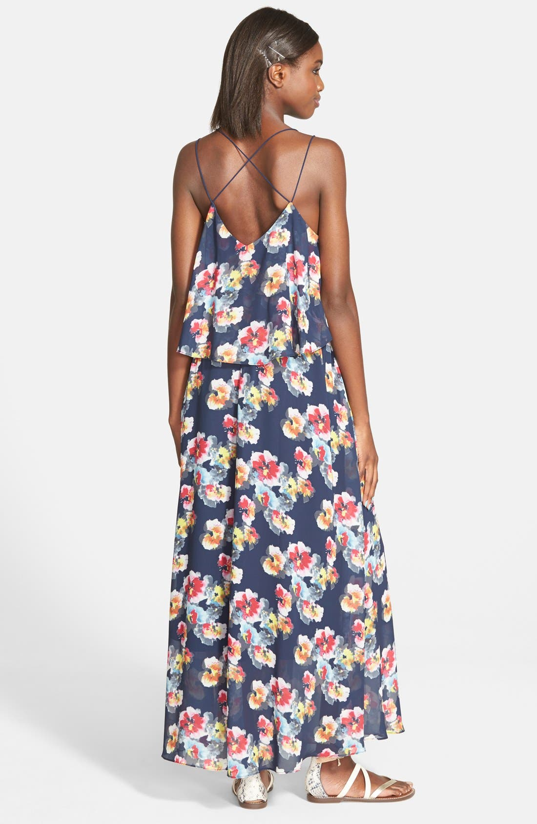'Bonnie' Floral Maxi Dress,                             Alternate thumbnail 2, color,                             415