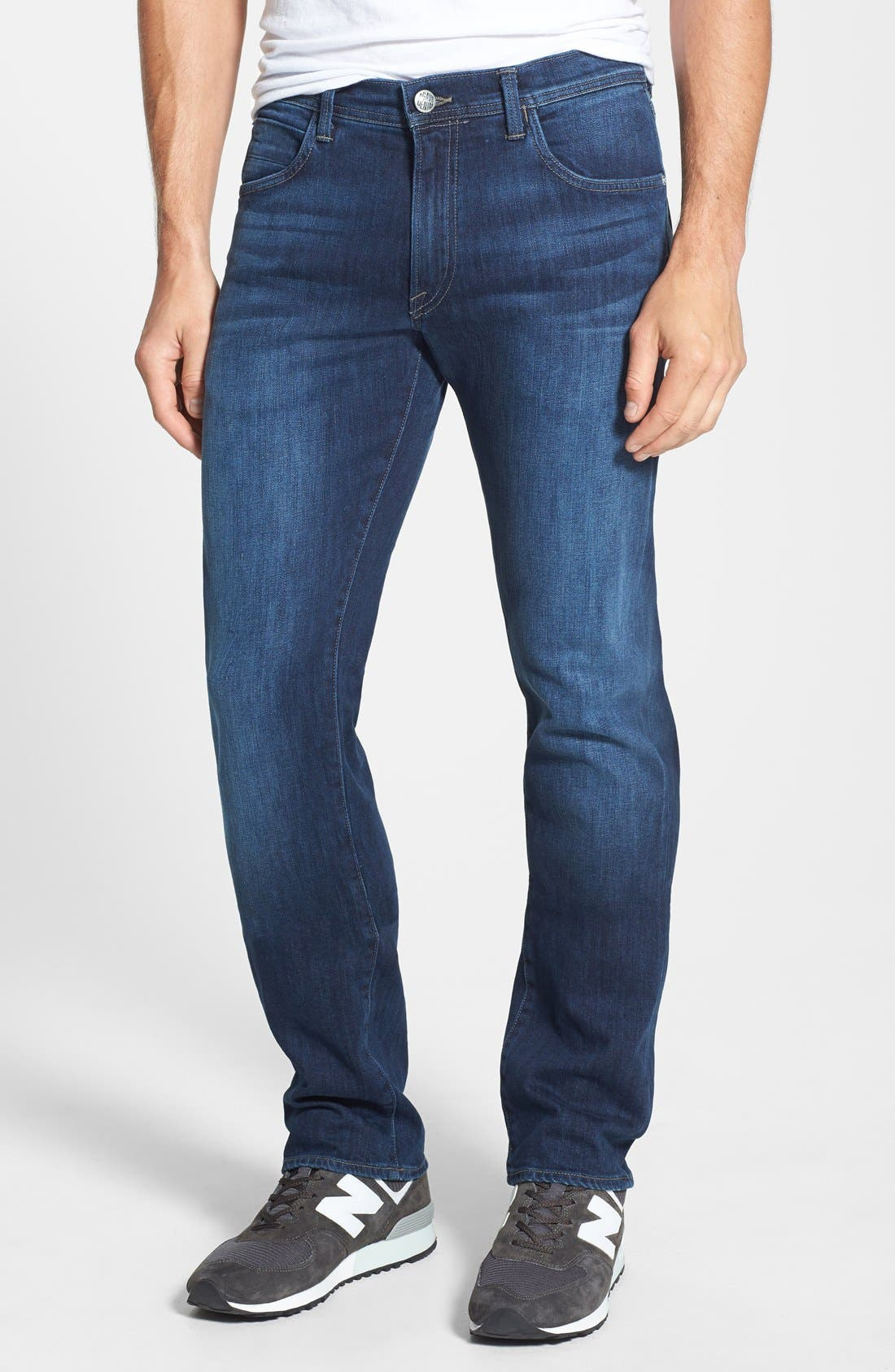 'Pragmatist Big Drake 4 Year Flex' Straight Leg Italian Stretch Denim Jeans, Main, color, 421